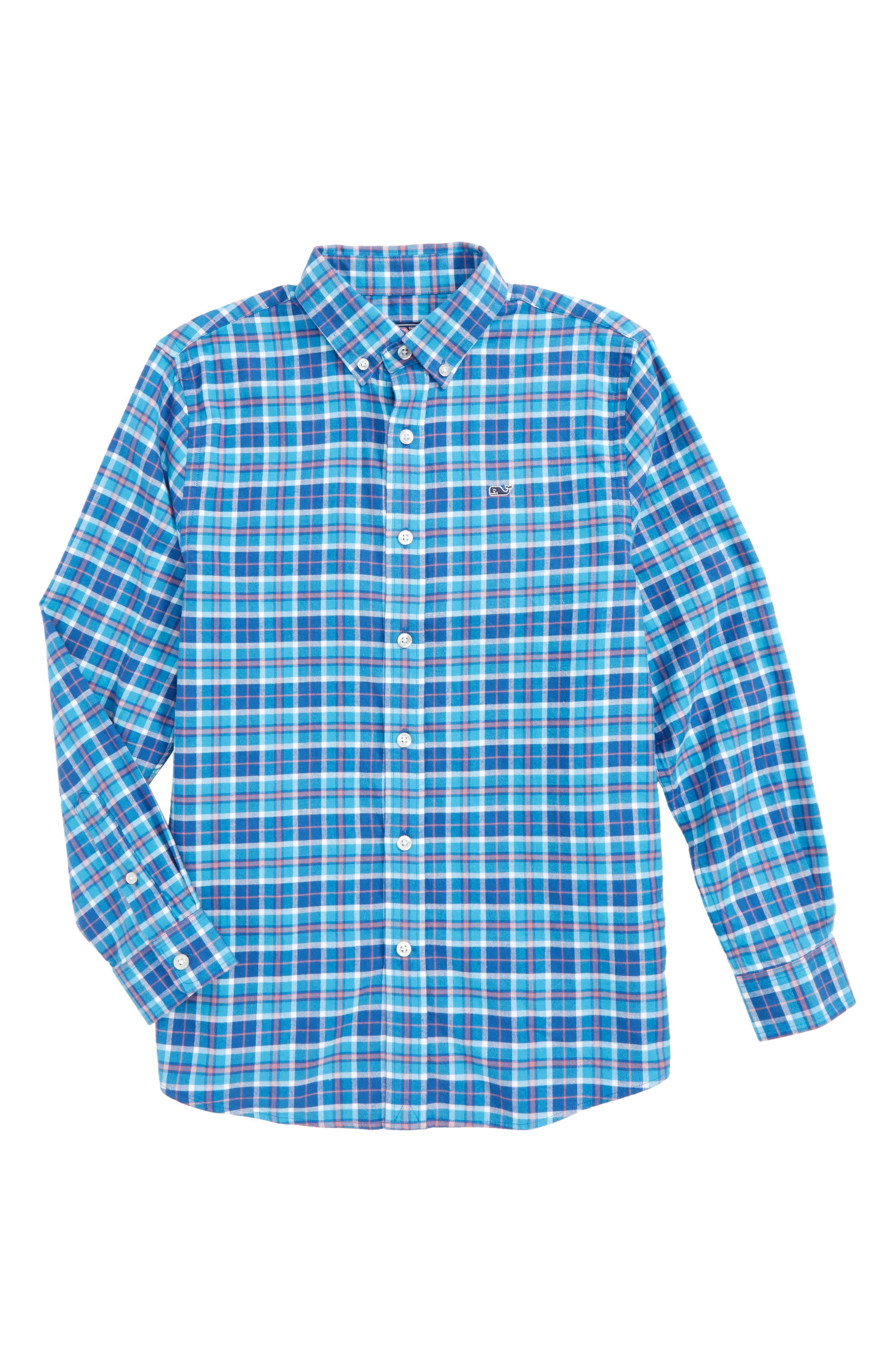 Plaskett Creek Plaid Whale Shirt,                         Main,                         color, 496
