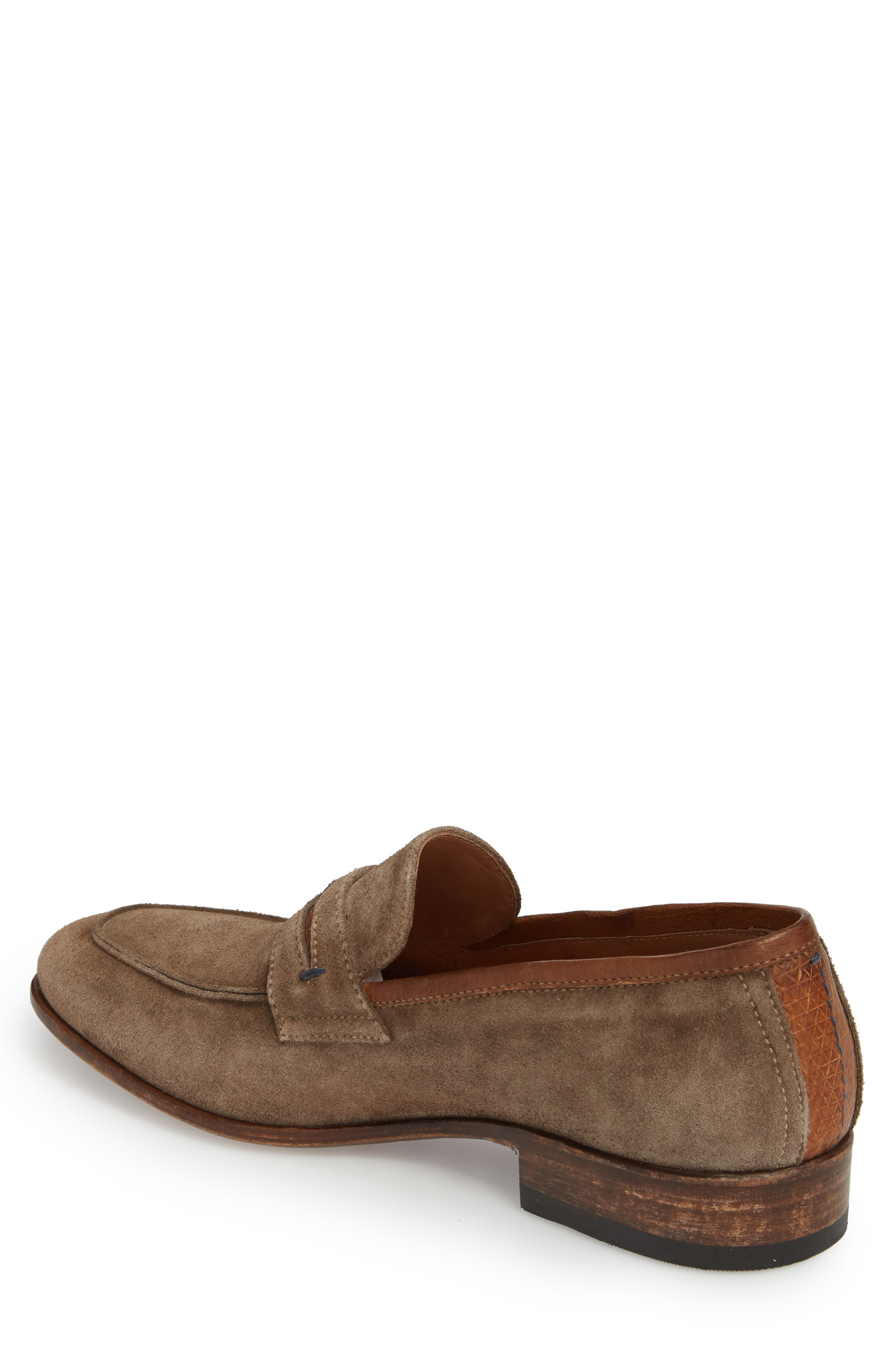 Lex Apron Toe Penny Loafer,                             Alternate thumbnail 3, color,