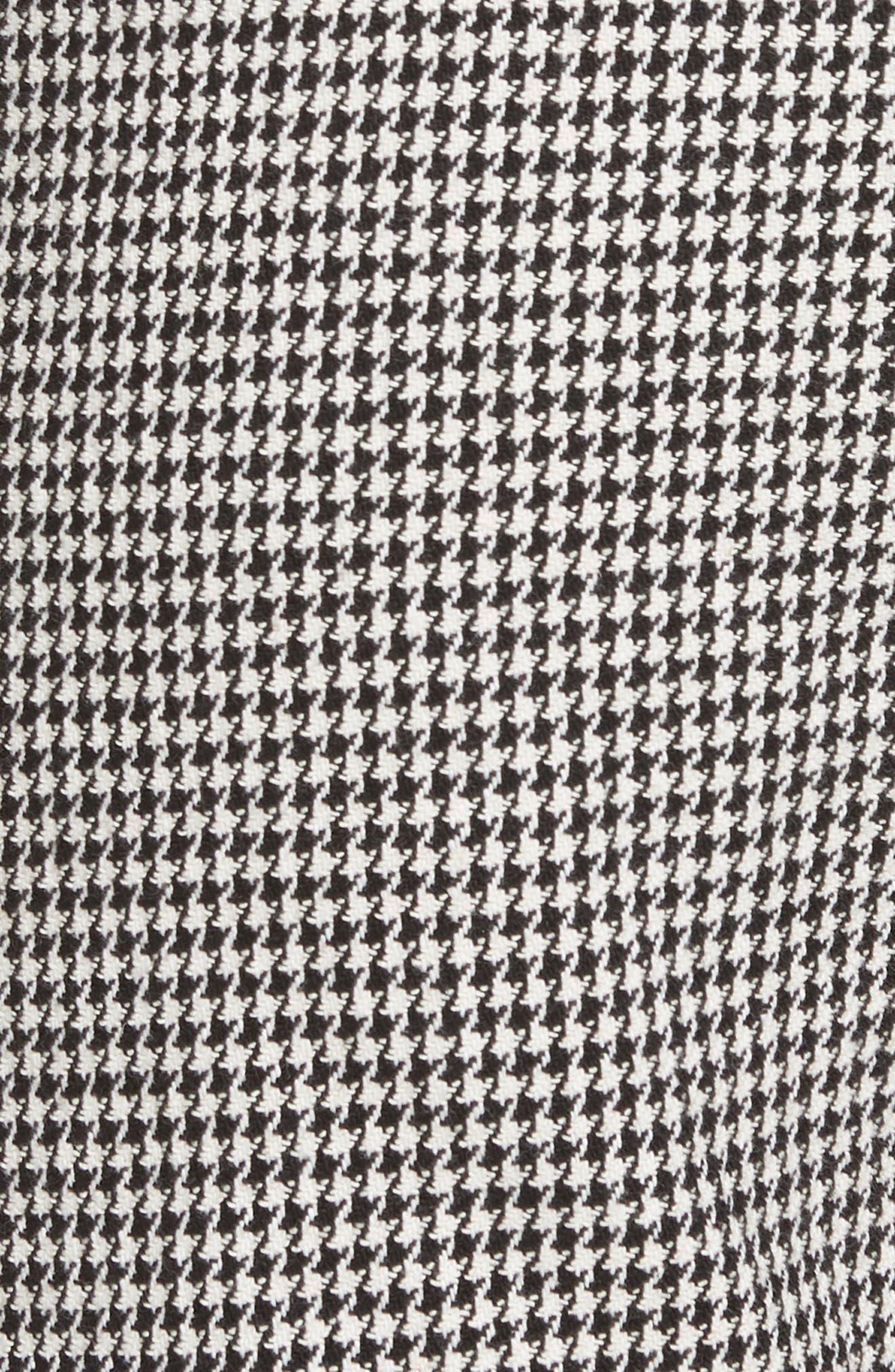 Felton Houndstooth Trousers,                             Alternate thumbnail 5, color,                             BLACK/WHITE