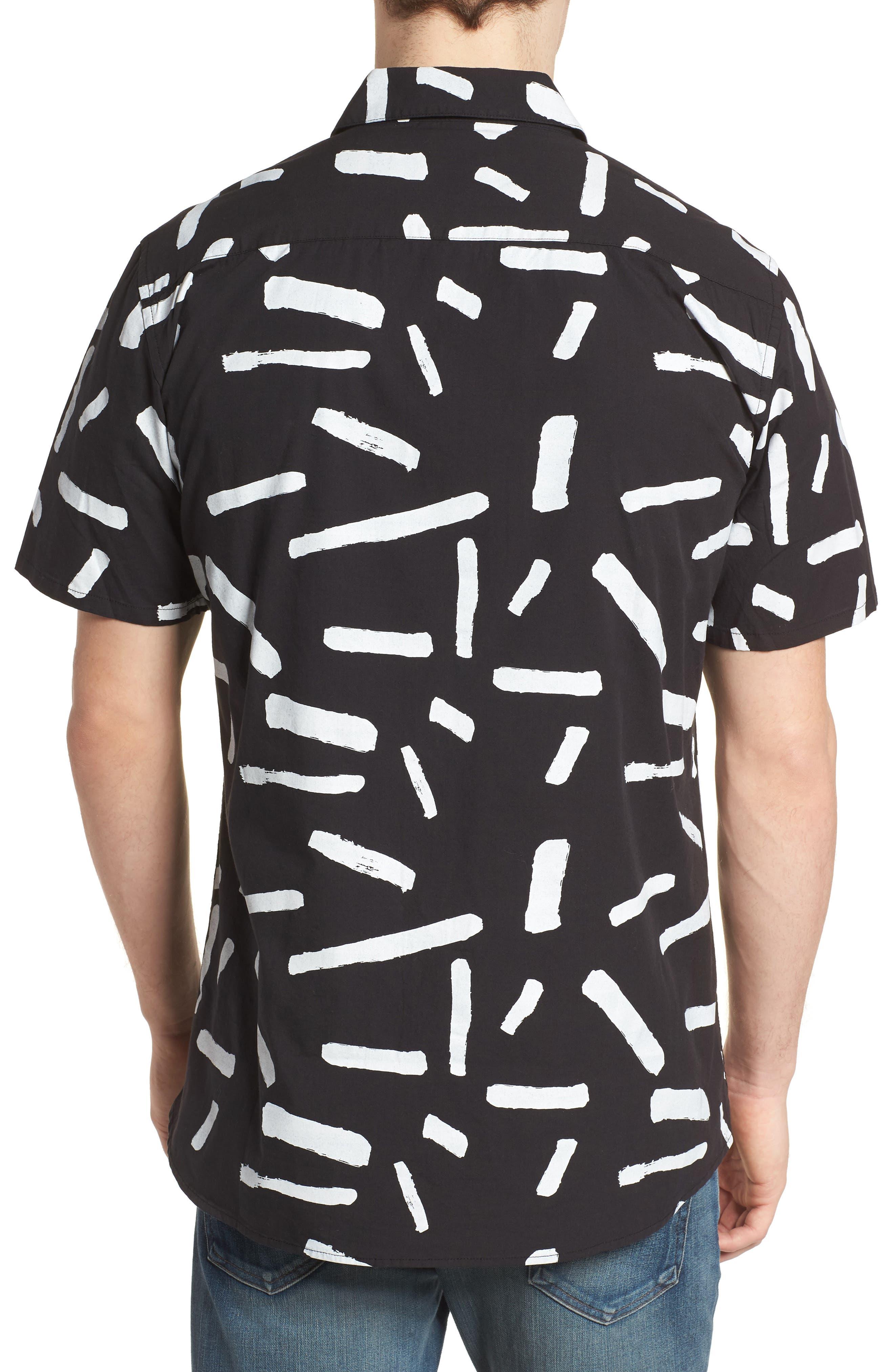 Print Short Sleeve Shirt,                             Alternate thumbnail 5, color,