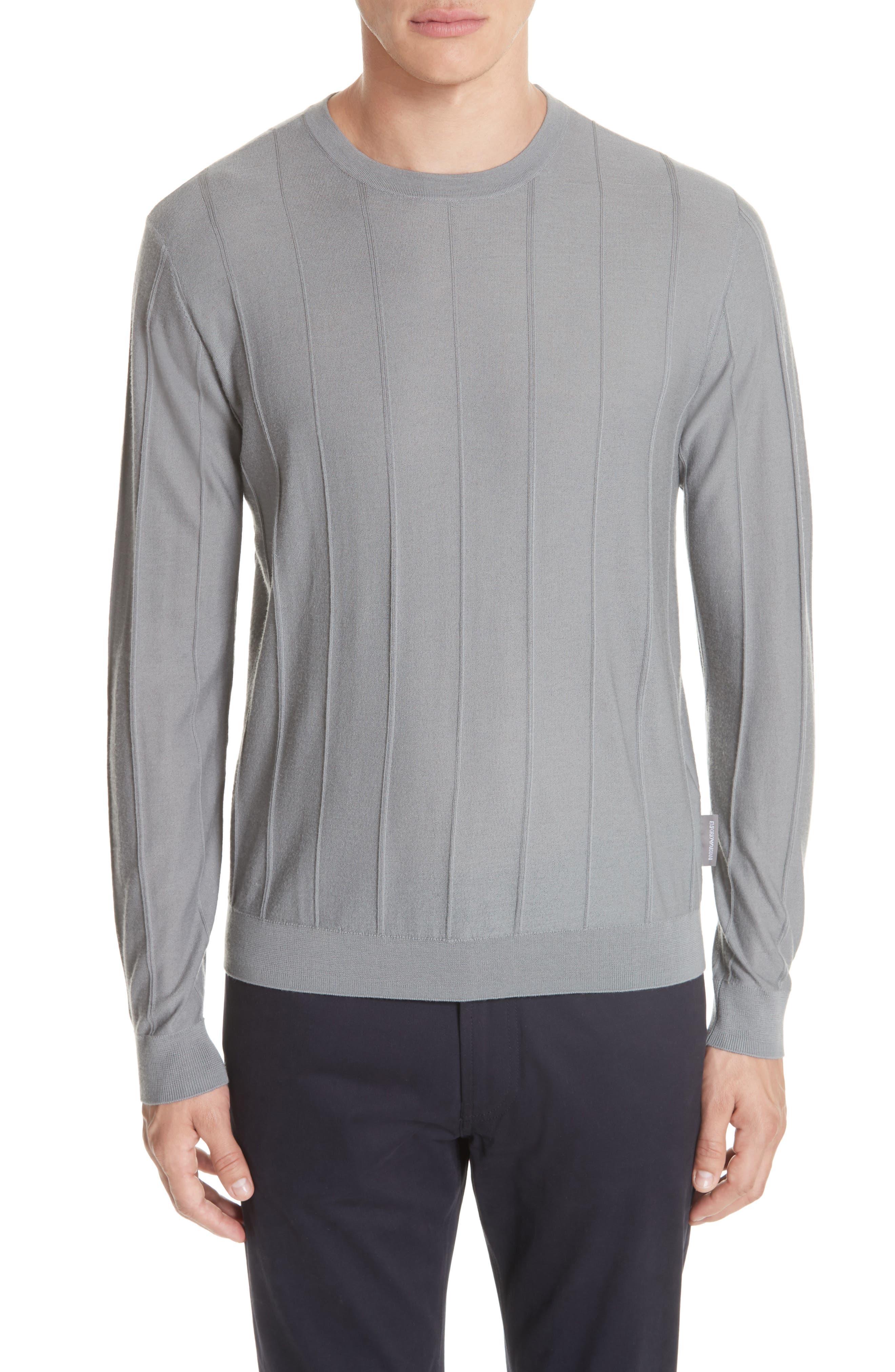 Crewneck Wool Sweater,                         Main,                         color, GRIGIO