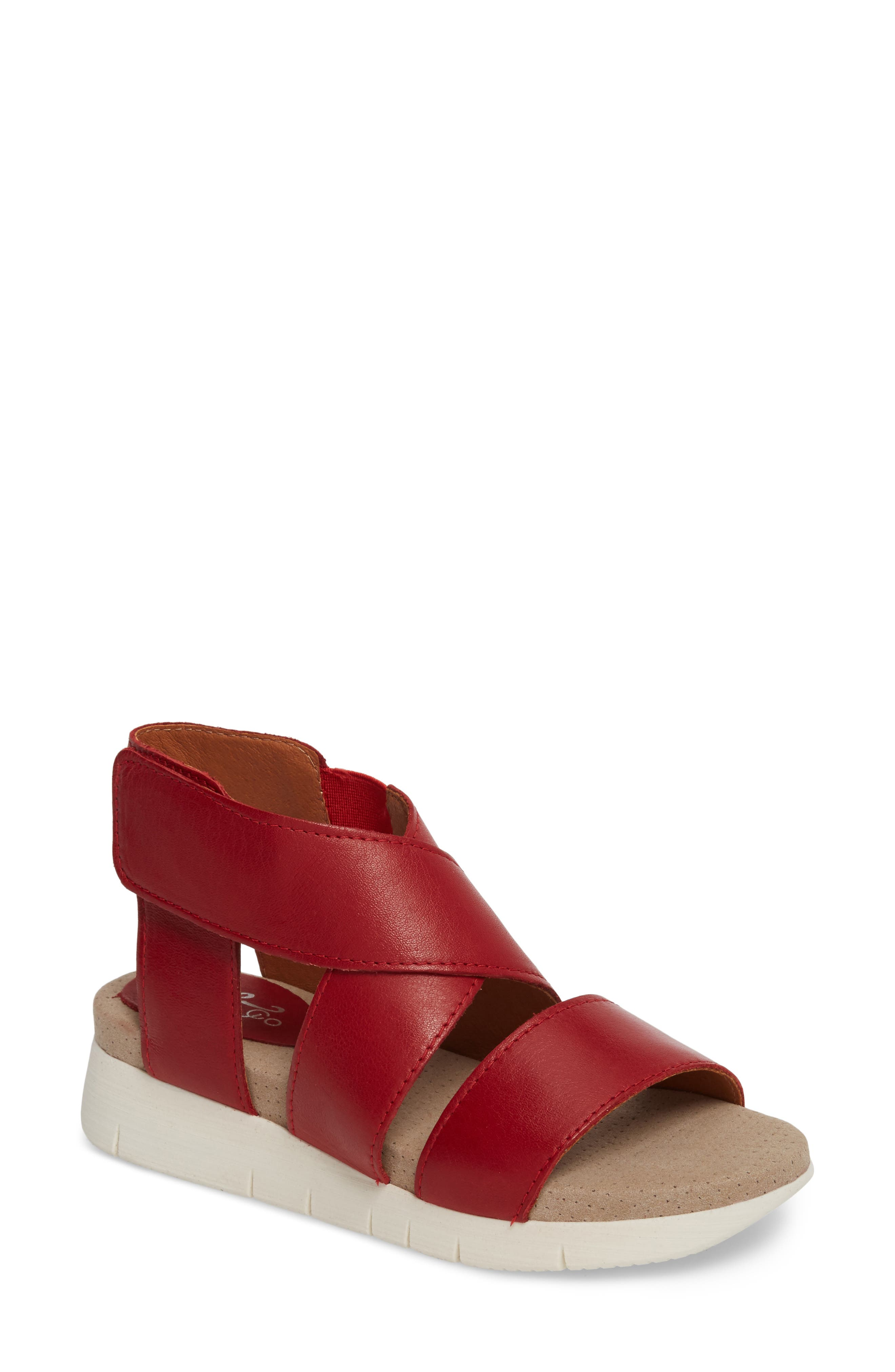Bos. & Co. Piper Wedge Sandal - Red