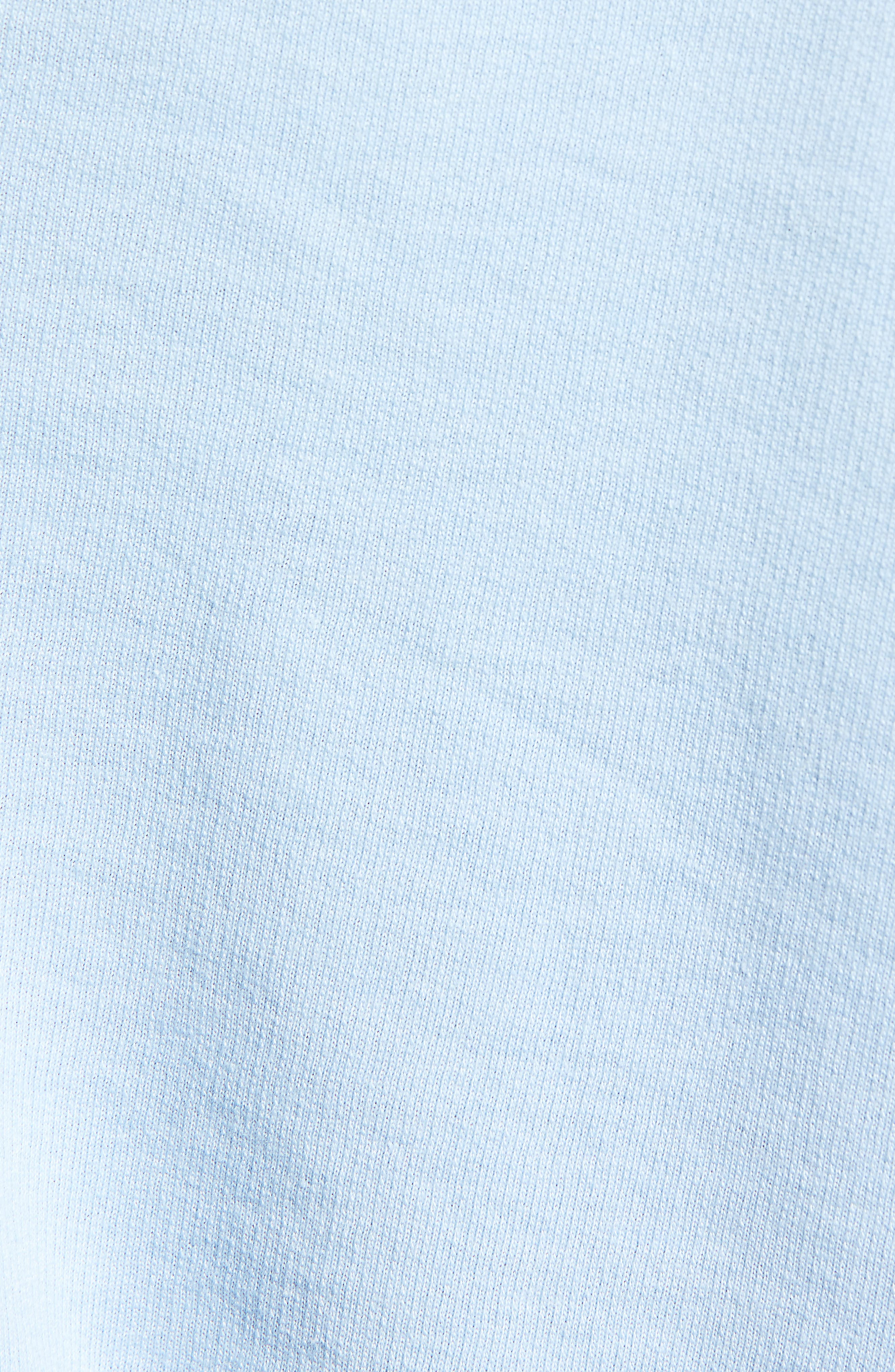 BP.,                             Vintage Wash Crop Short Sleeve Sweatshirt,                             Alternate thumbnail 5, color,                             BLUE PLACID