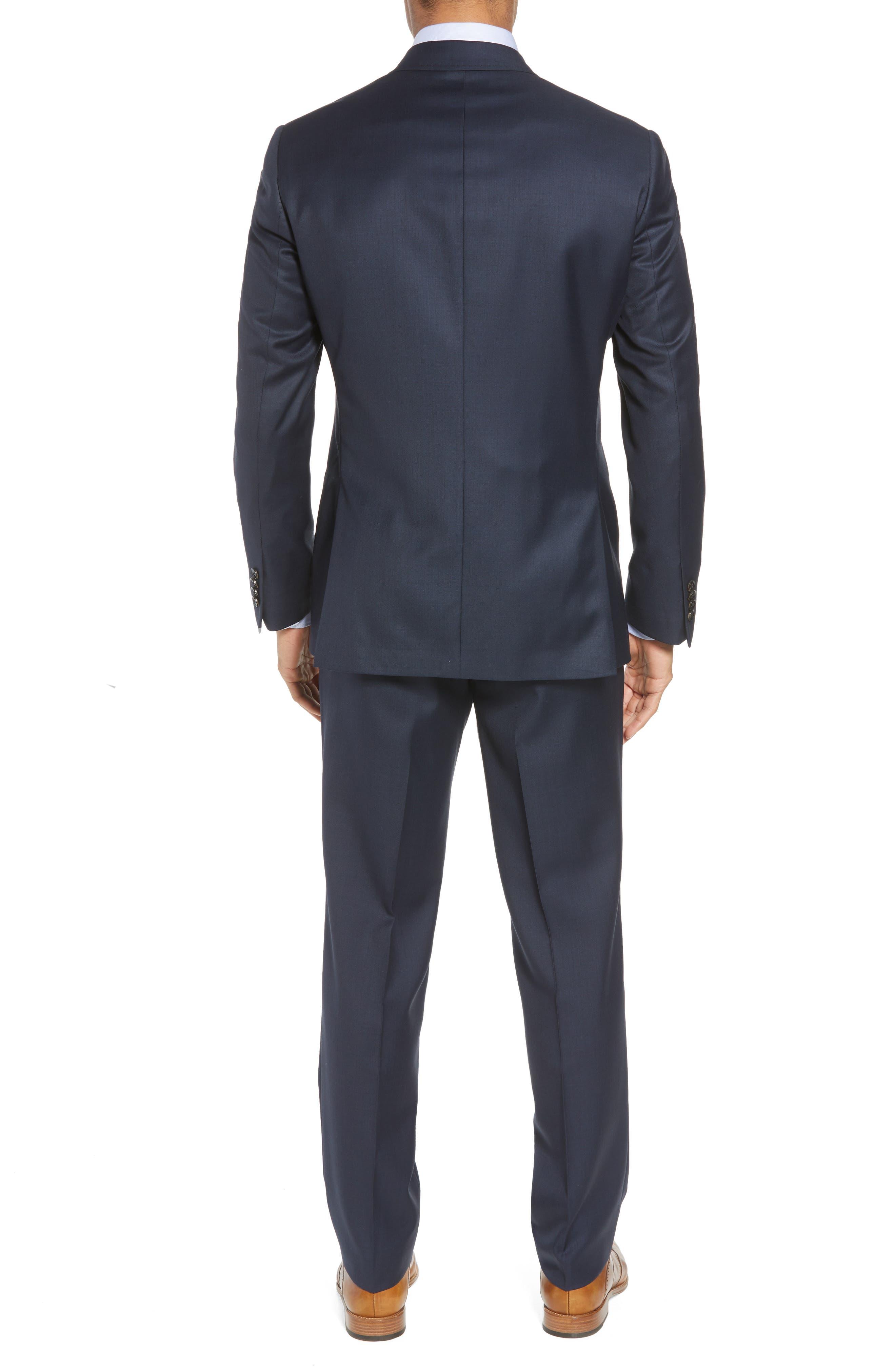 Jones Trim Fit Solid Wool Suit,                             Alternate thumbnail 2, color,                             BLUE