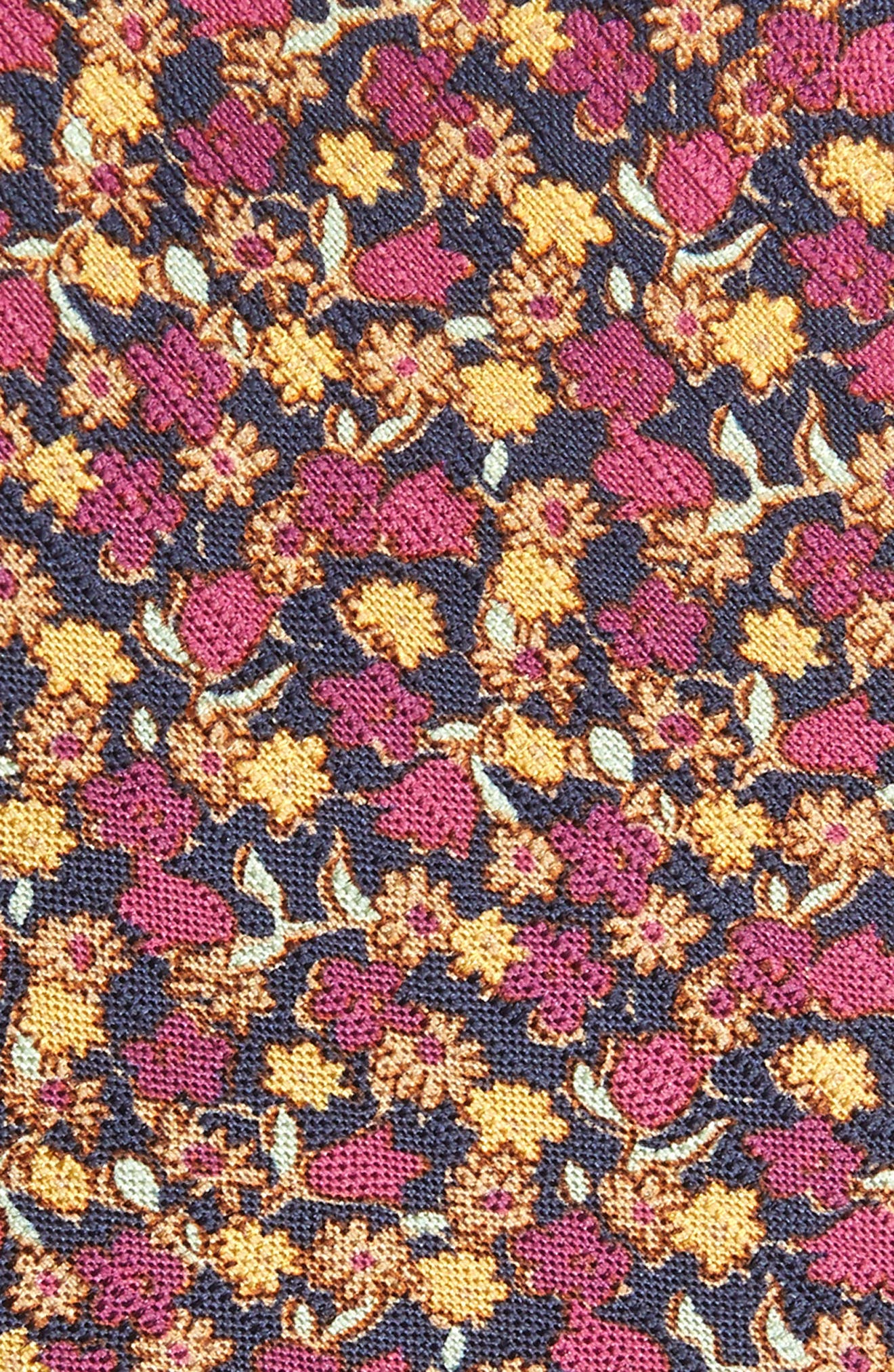 Summer Isles Floral Cotton & Silk Tie,                             Alternate thumbnail 2, color,                             BLUE