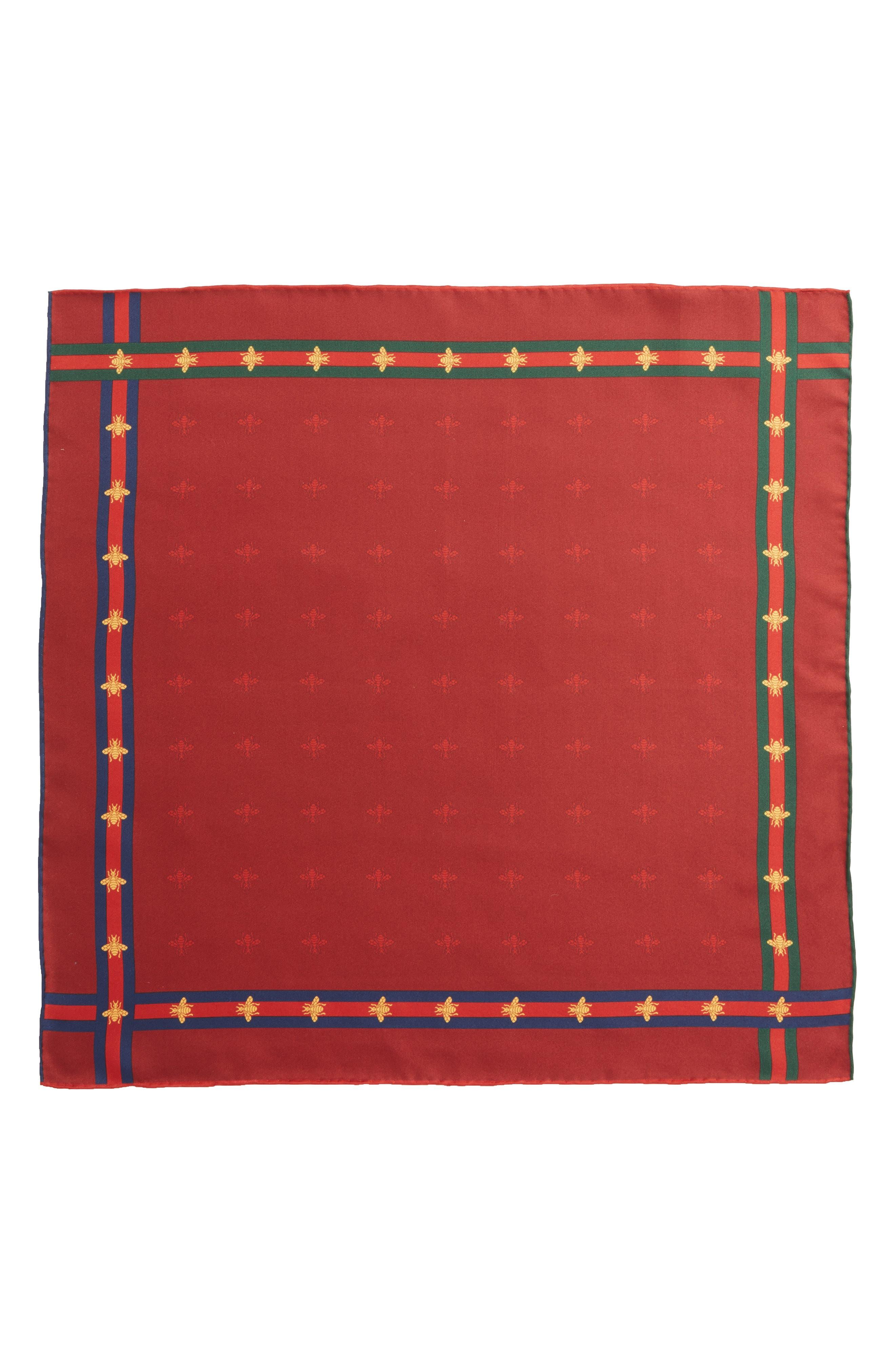 Runebis Silk Twill Pocket Square,                             Alternate thumbnail 12, color,
