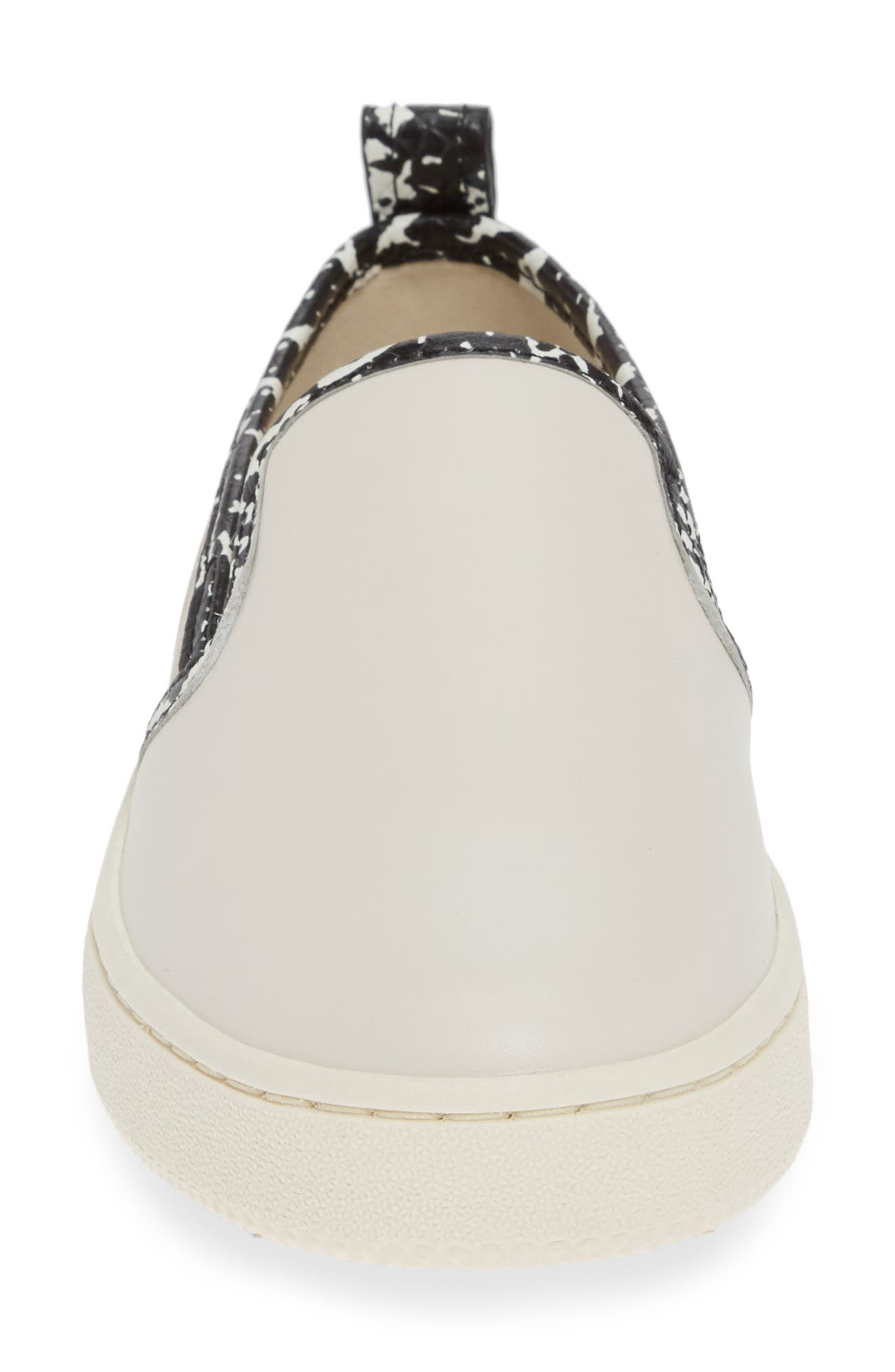 Colorblock Slip-On Sneaker,                             Alternate thumbnail 4, color,                             CHALK/ NATURAL/ CHAMPAGNE