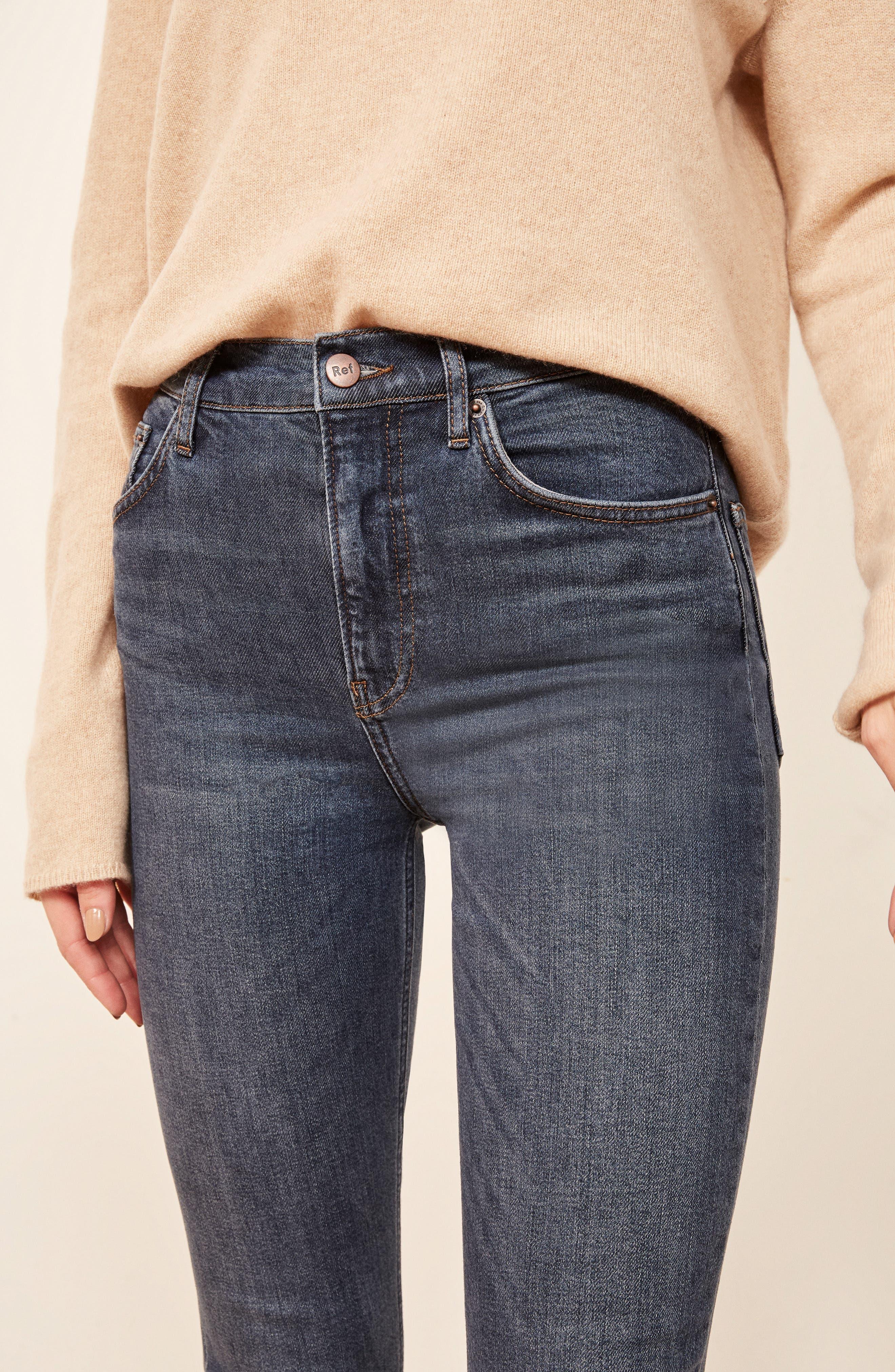 High & Skinny Jeans,                             Alternate thumbnail 6, color,                             HAVANA