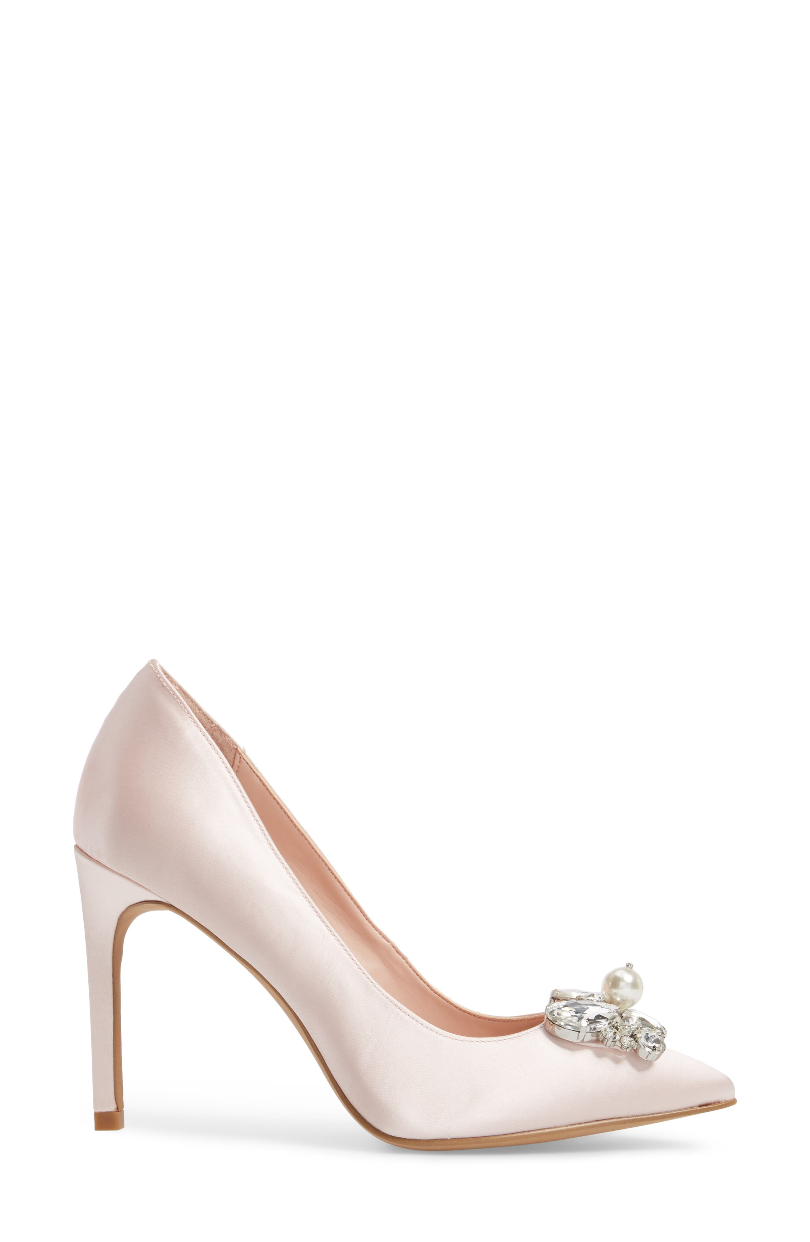Chiara Embellished Pointy Toe Pump,                             Alternate thumbnail 6, color,