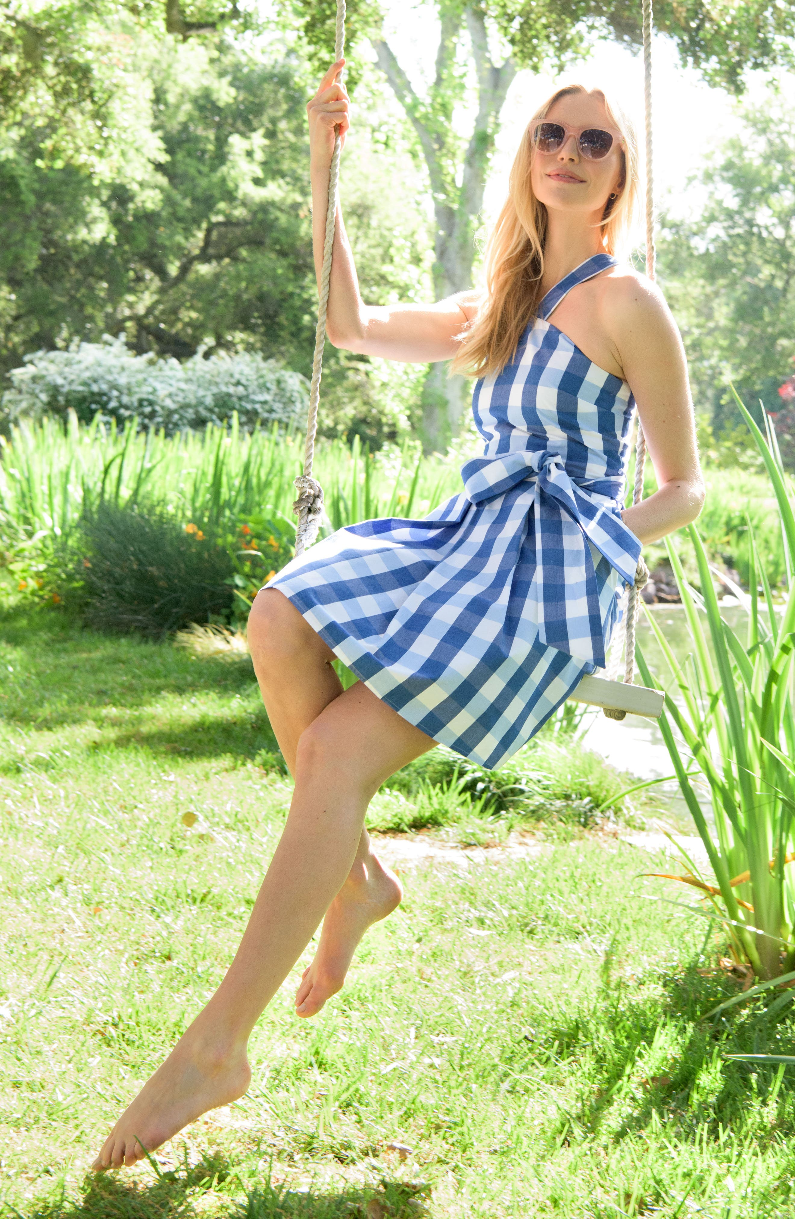 Mary Beth Cotton Sundress,                             Alternate thumbnail 8, color,                             400