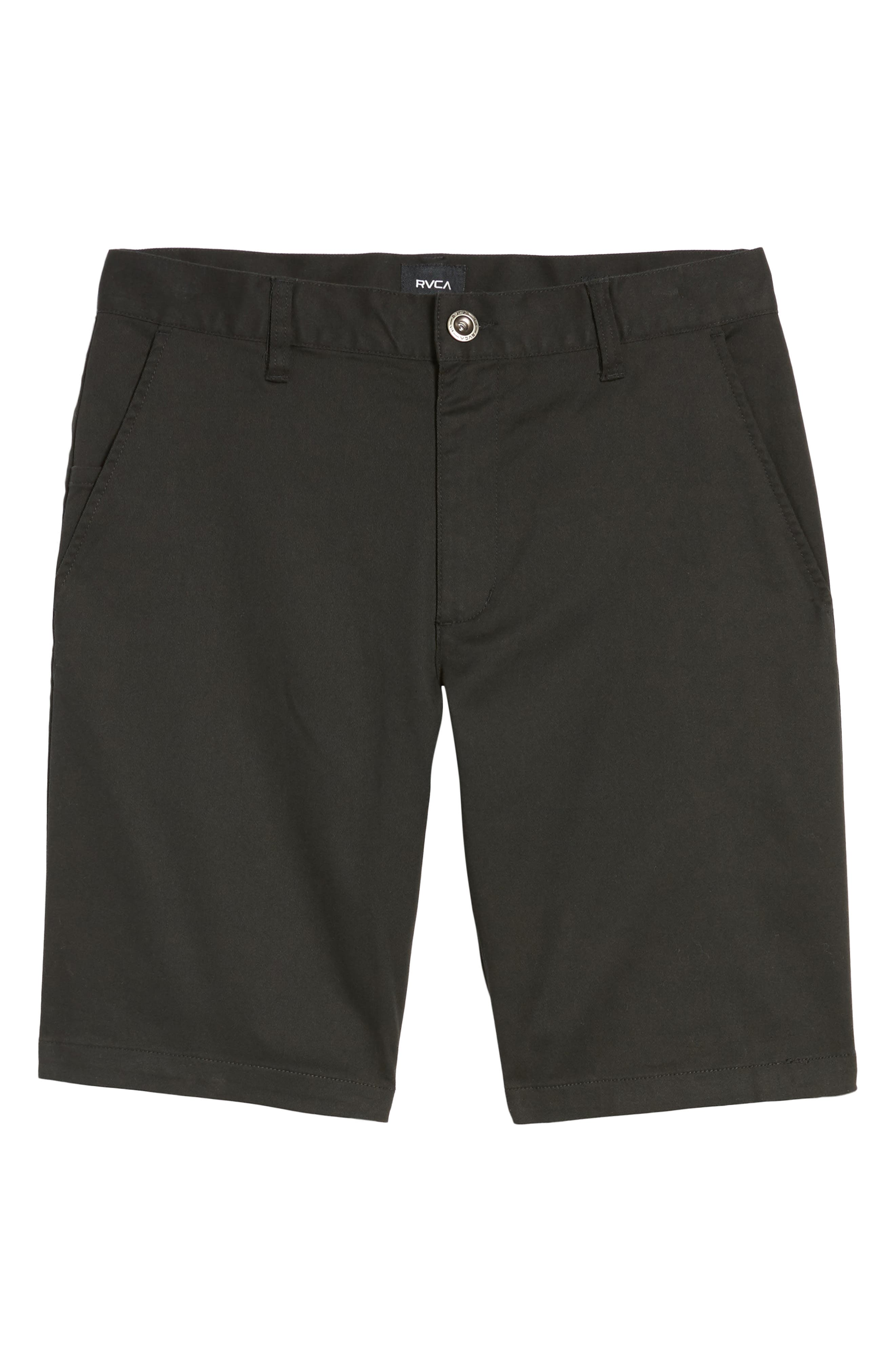 The Week-End Stretch Twill Chino Shorts,                             Alternate thumbnail 6, color,                             BLACK