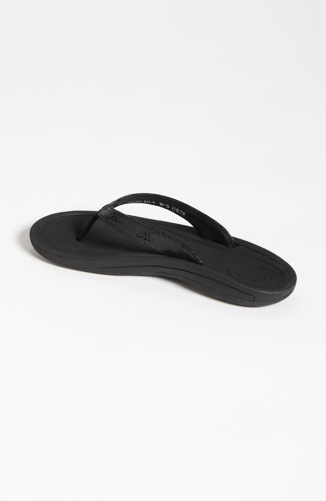 'Kulapa Kai' Thong Sandal,                             Alternate thumbnail 3, color,                             BLACK
