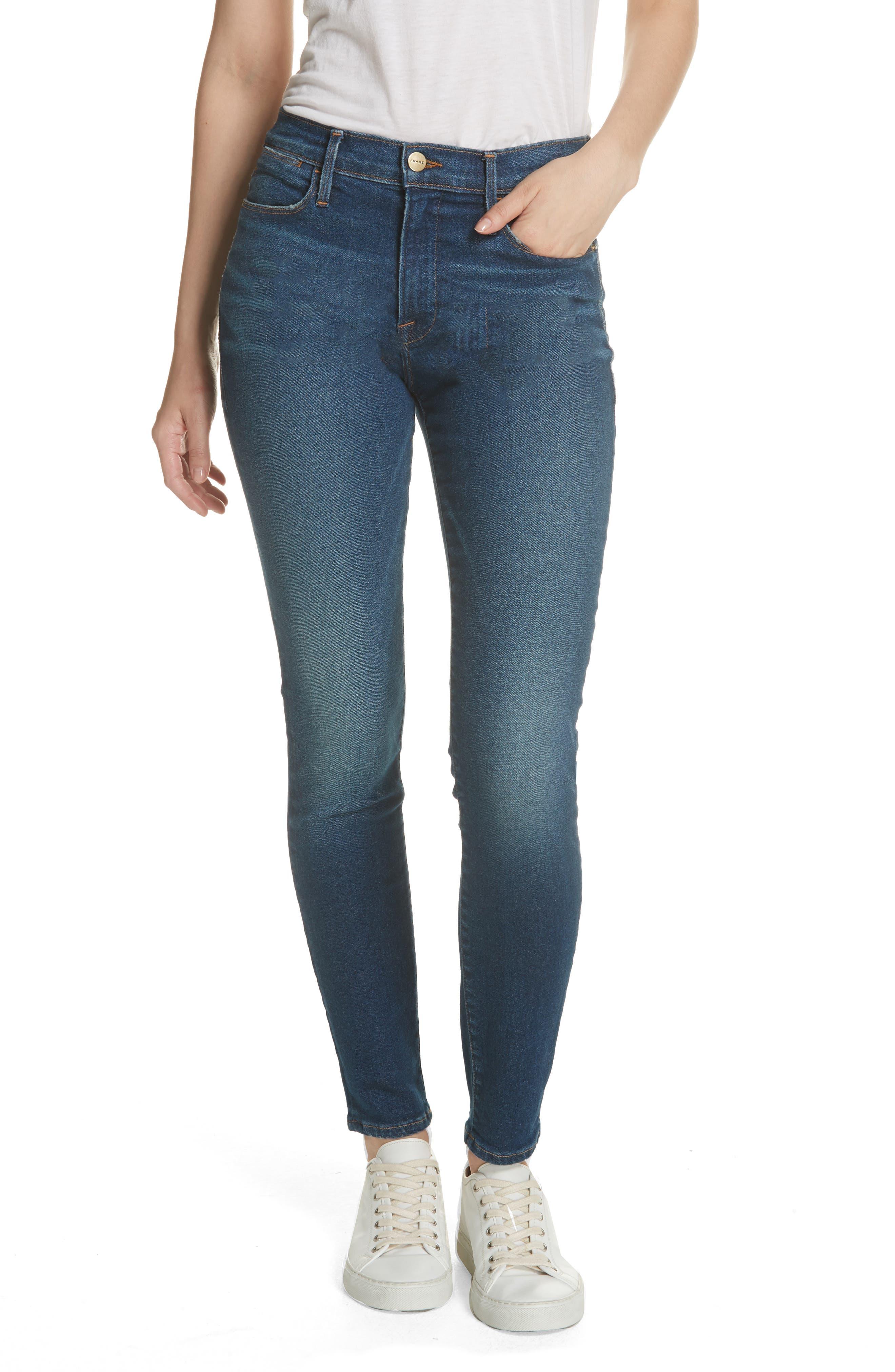 Le High Skinny Jeans,                             Main thumbnail 1, color,                             401