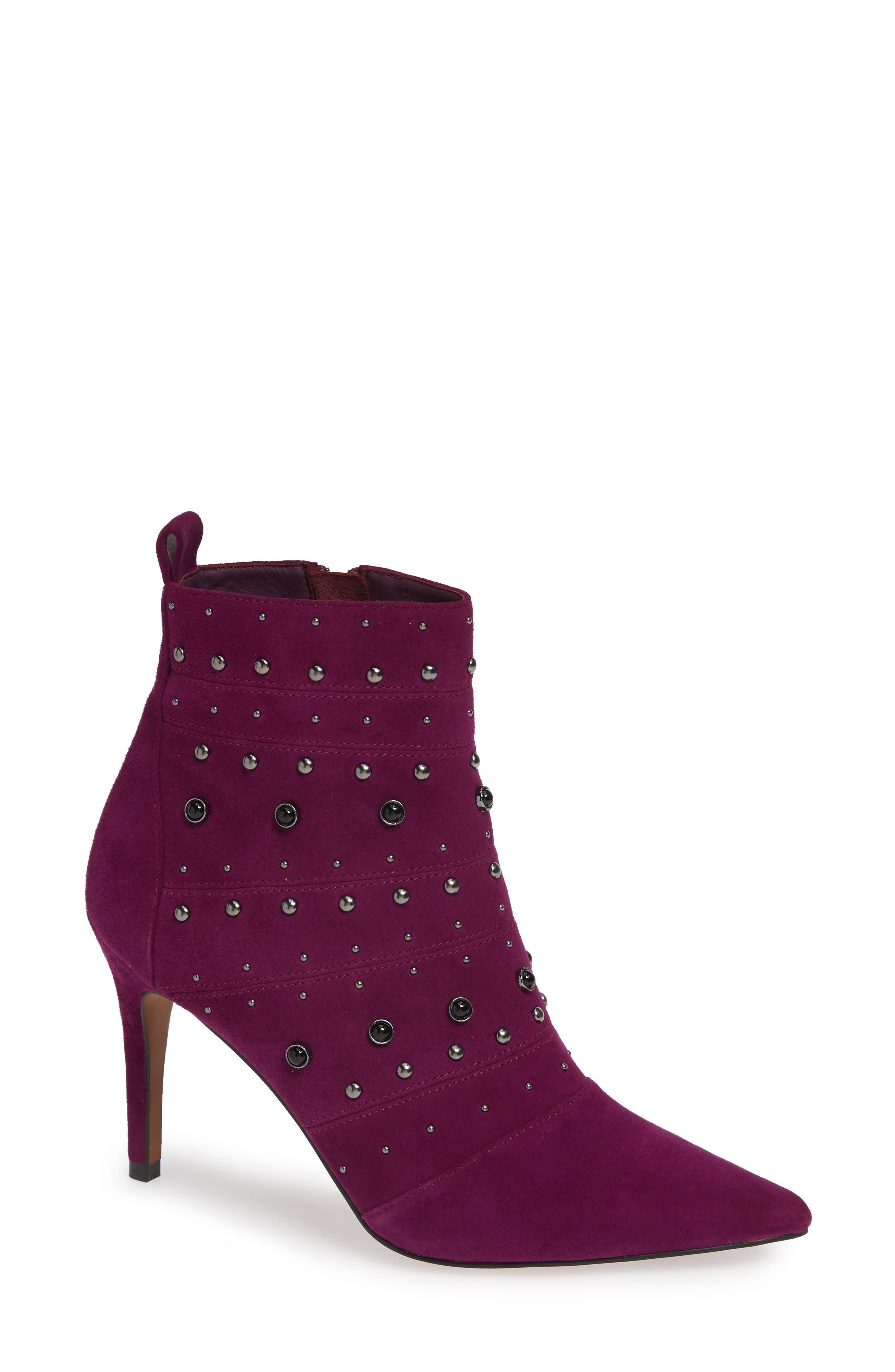 Linea Paolo Nara Studded Bootie- Purple