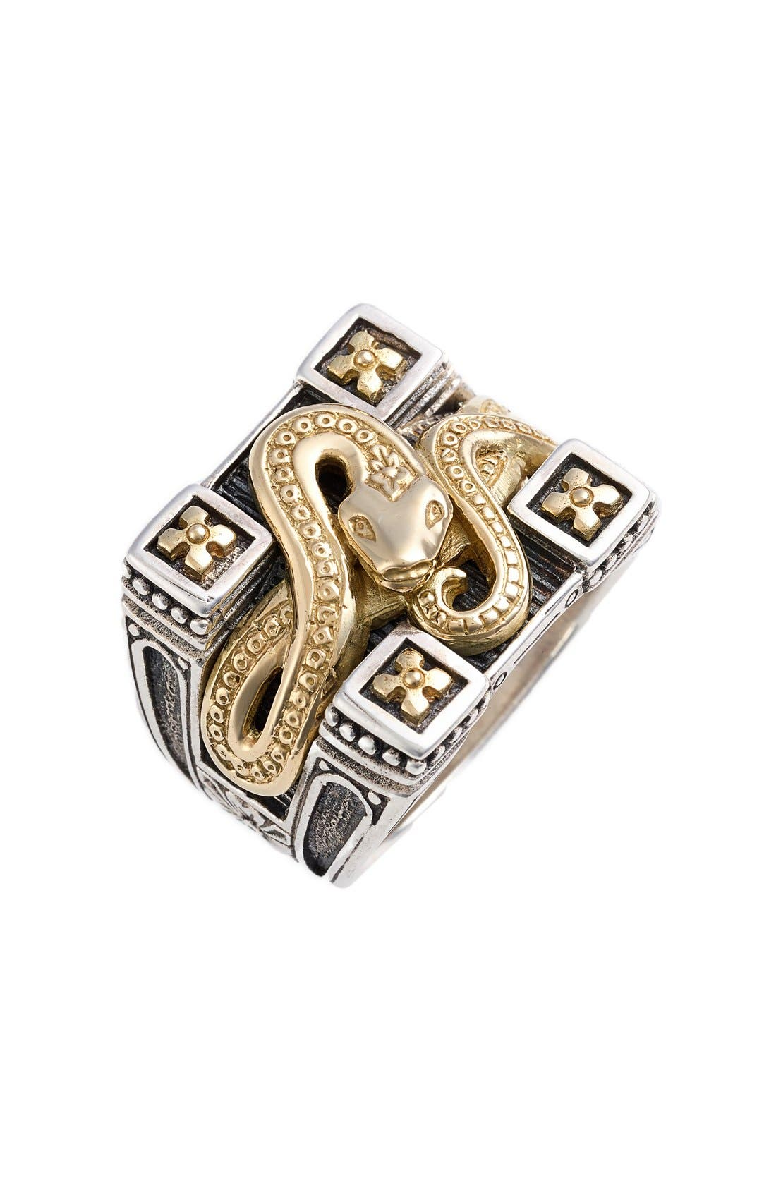 'Minos' Carved Serpent Ring,                             Main thumbnail 1, color,                             040