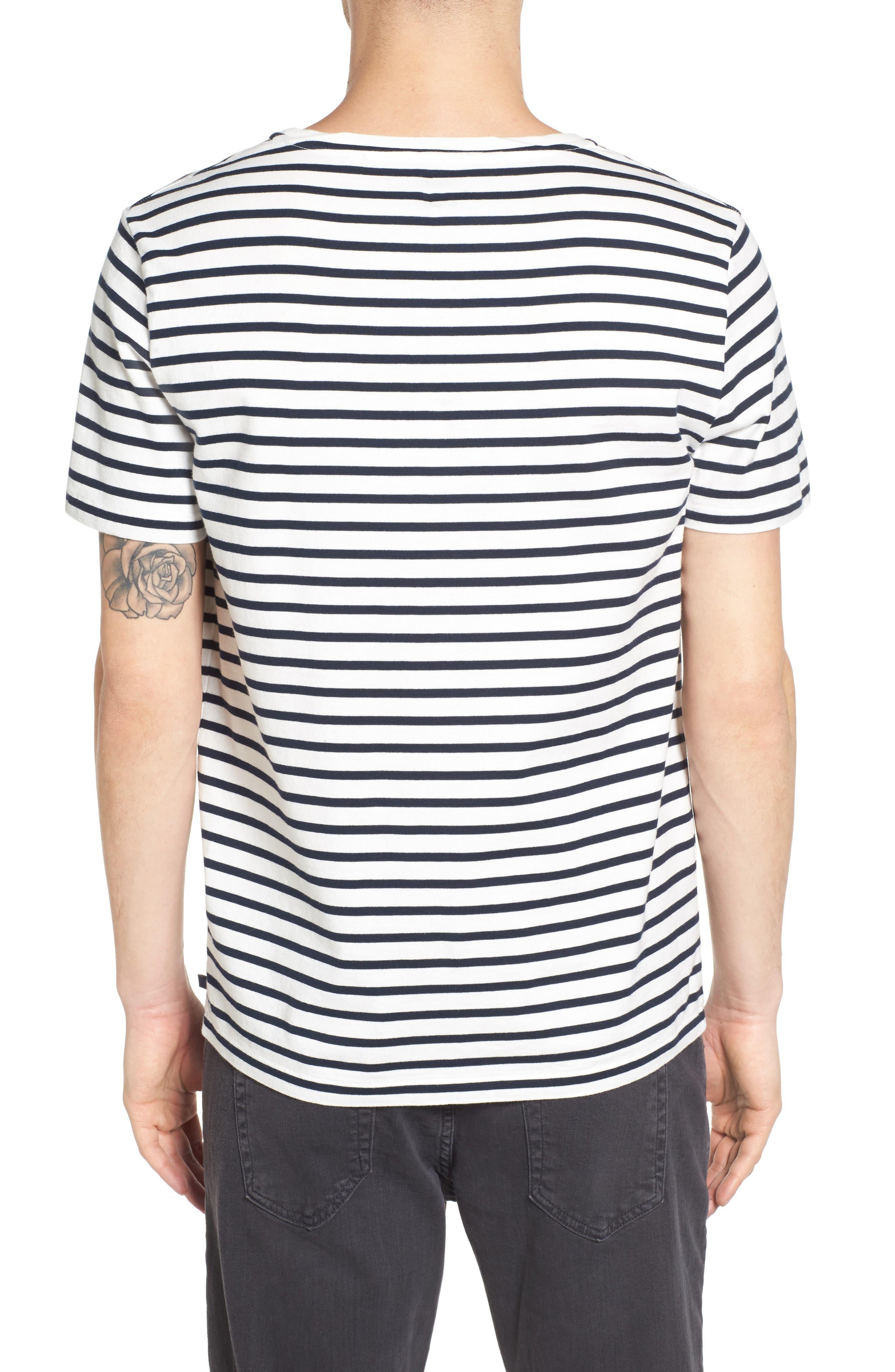 Julian Stripe Crewneck T-Shirt,                             Alternate thumbnail 3, color,