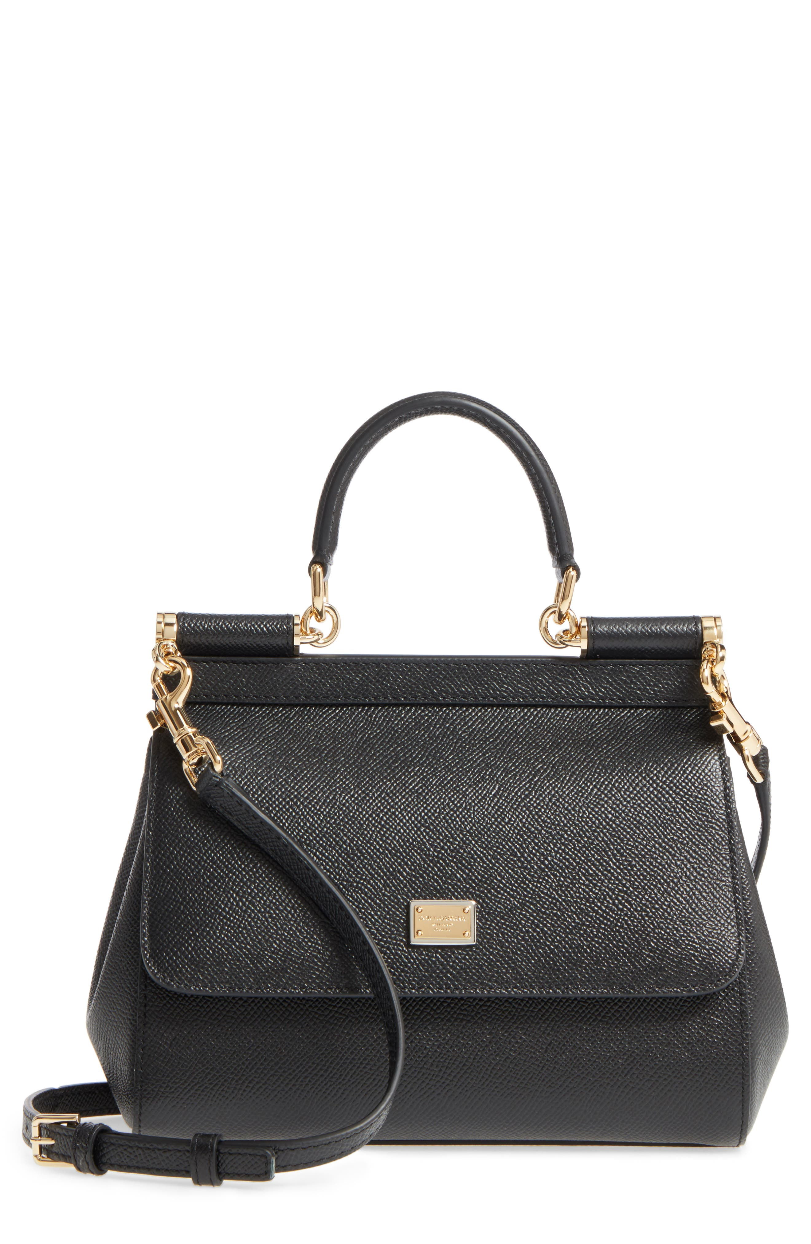 Small Miss Sicily Leather Satchel,                         Main,                         color, 002