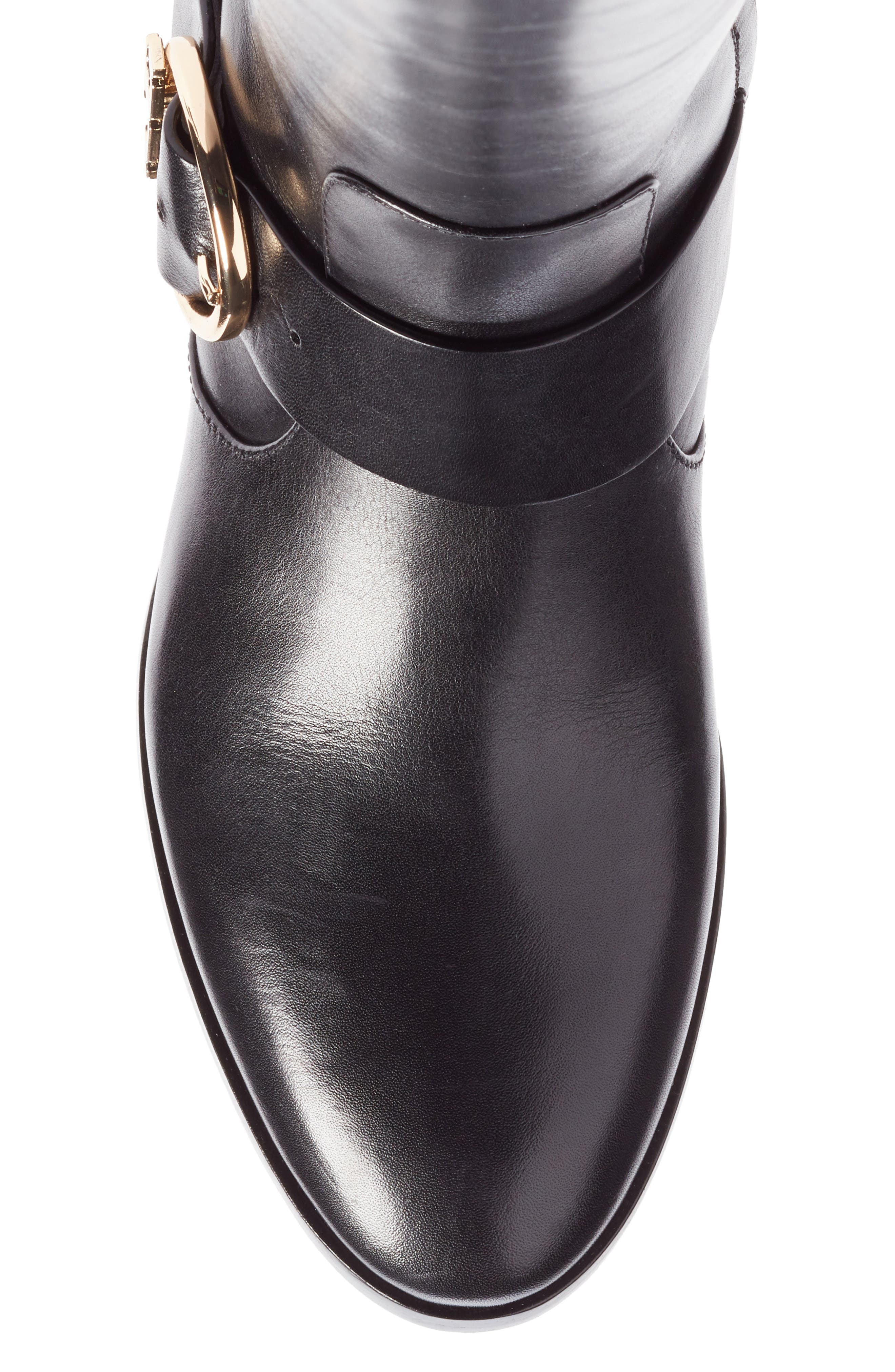 Sofia Buckled Riding Boot,                             Alternate thumbnail 5, color,                             001