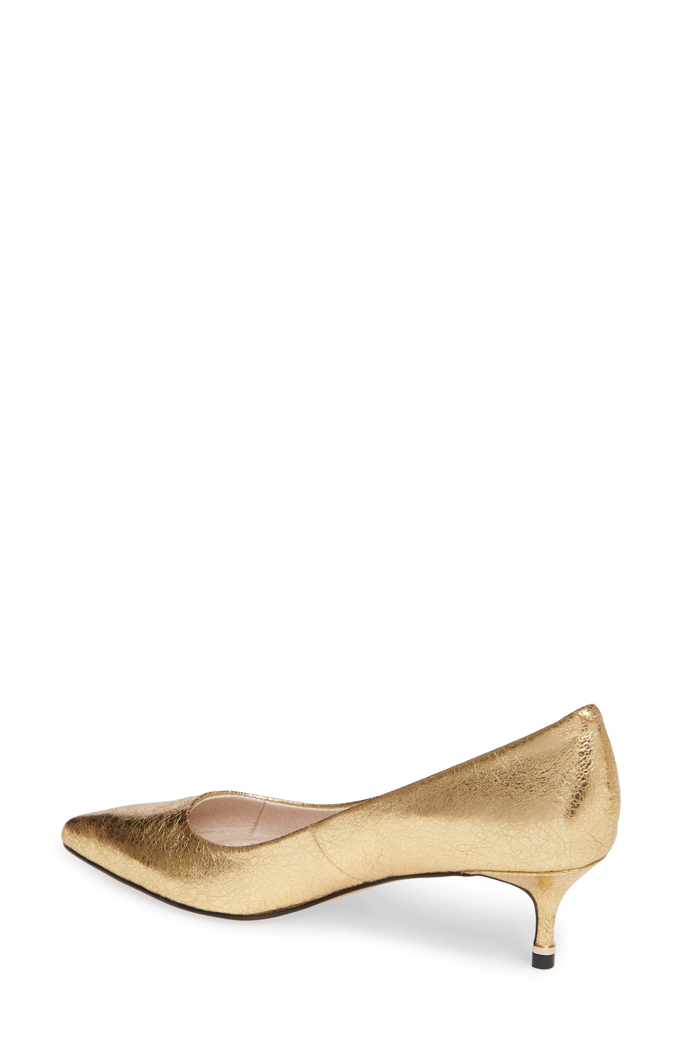 Riley 50 Pump,                             Alternate thumbnail 2, color,                             YELLOW GOLD LEATHER