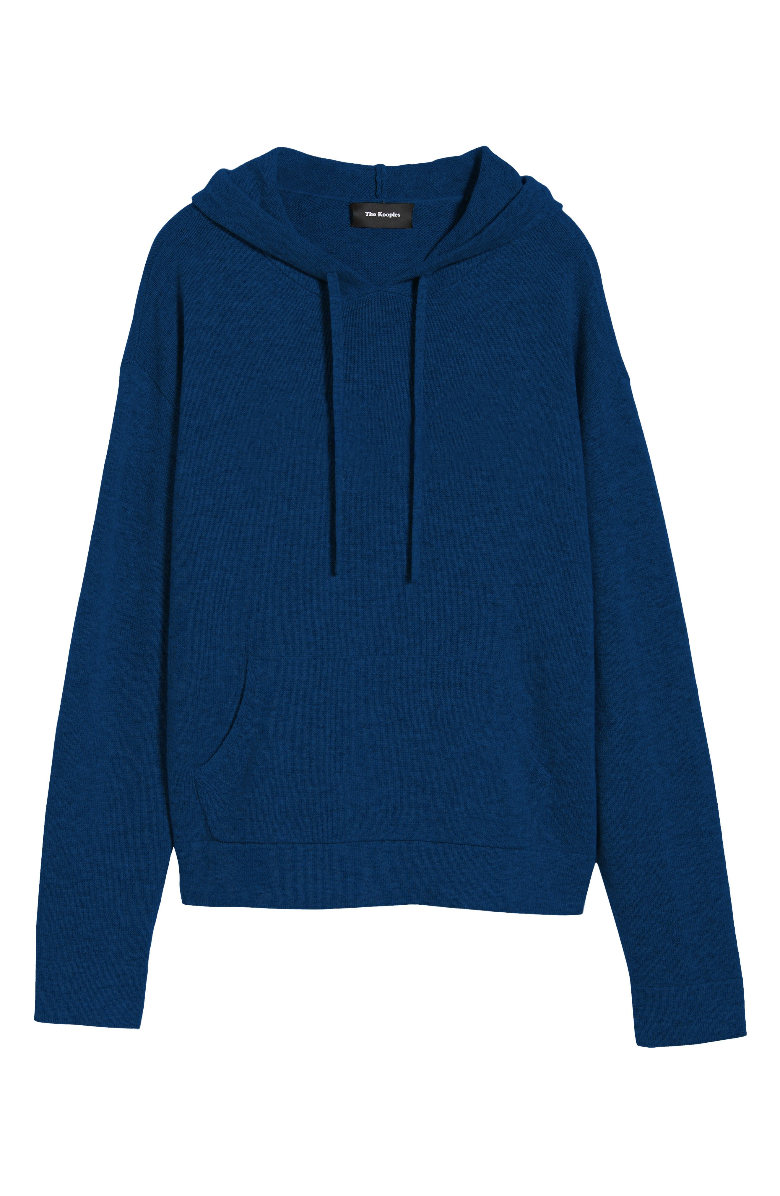 Classic Fit Hoodie Sweater,                             Alternate thumbnail 6, color,                             NAVY