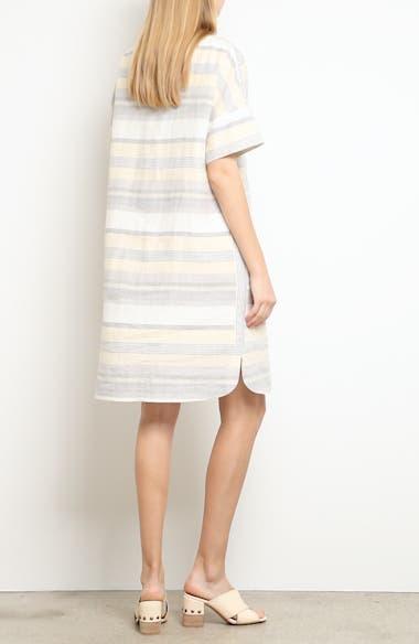 Lydia Stripe Linen Dress, video thumbnail