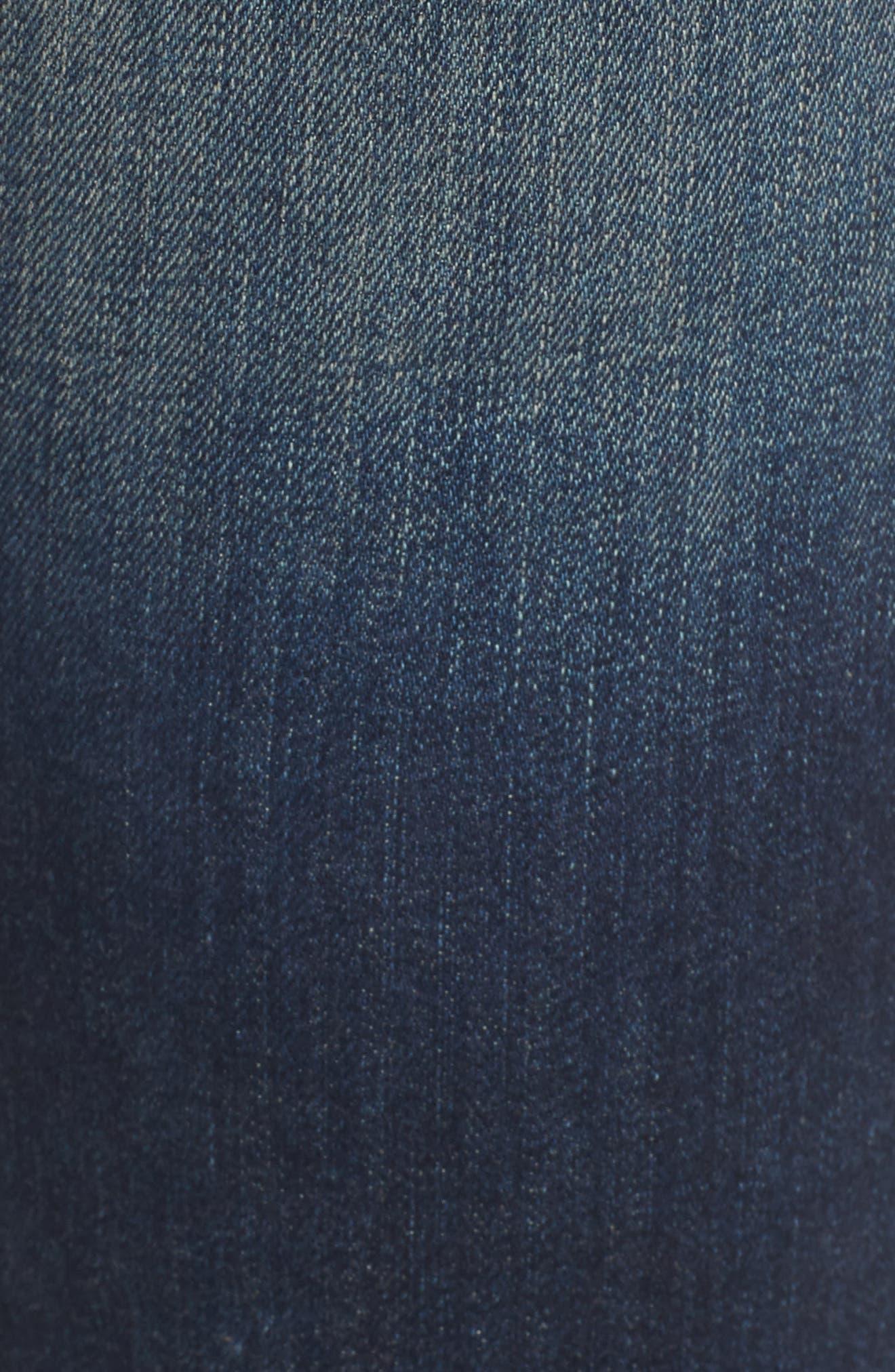 Racer Whiskered Skinny Jeans,                             Alternate thumbnail 5, color,                             403