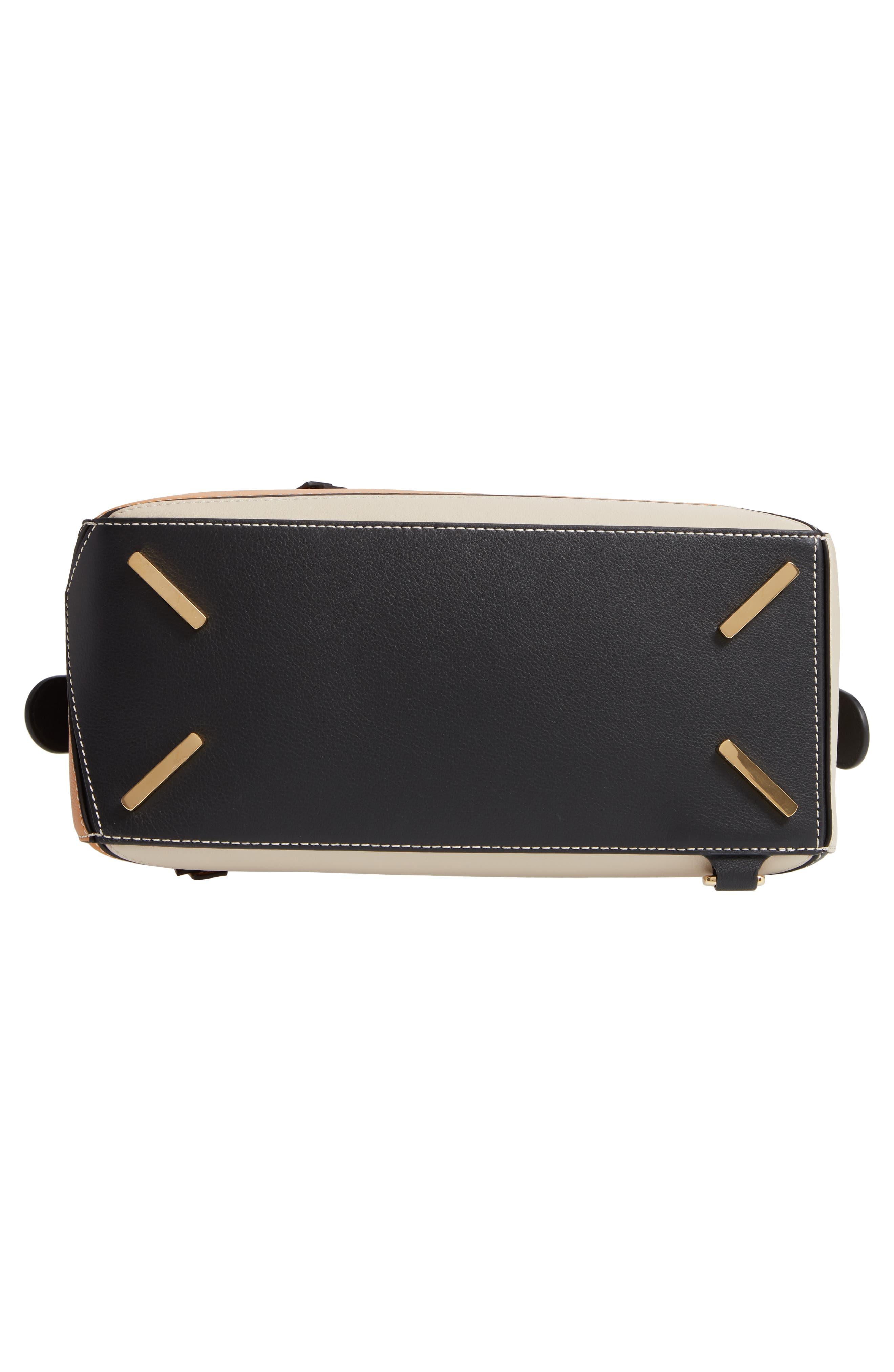 LOEWE,                             Puzzle Calfskin Leather Shoulder Bag,                             Alternate thumbnail 7, color,                             AMBER/ LIGHT OAT
