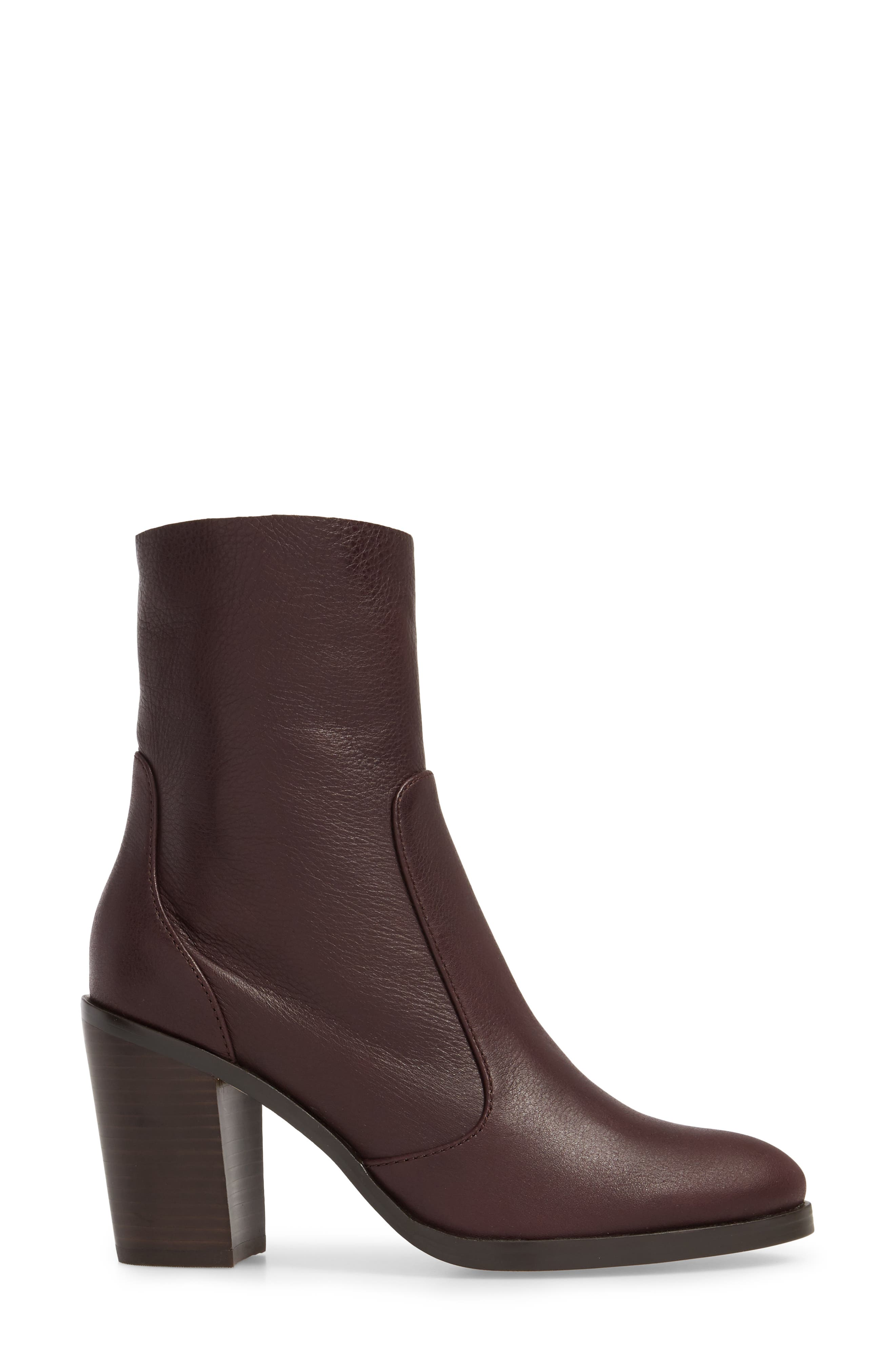 Roselyn Bootie,                             Alternate thumbnail 3, color,                             DEEP PLUM LEATHER