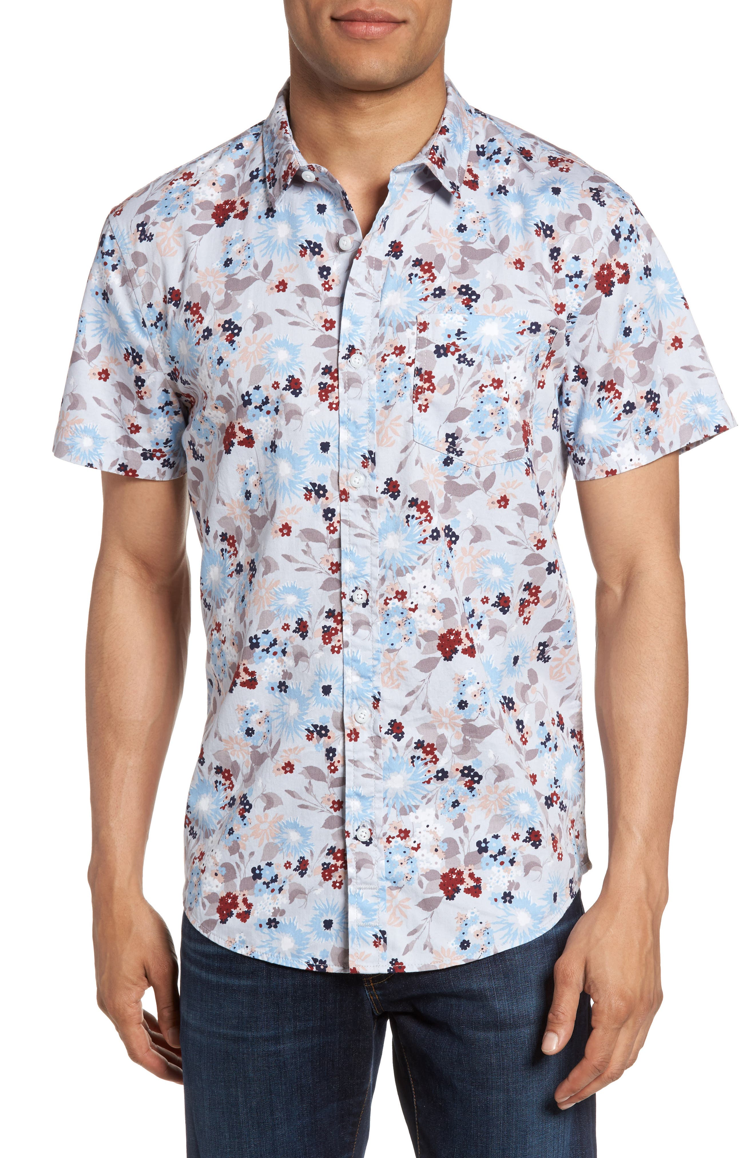 Floral Print Shirt,                             Main thumbnail 1, color,
