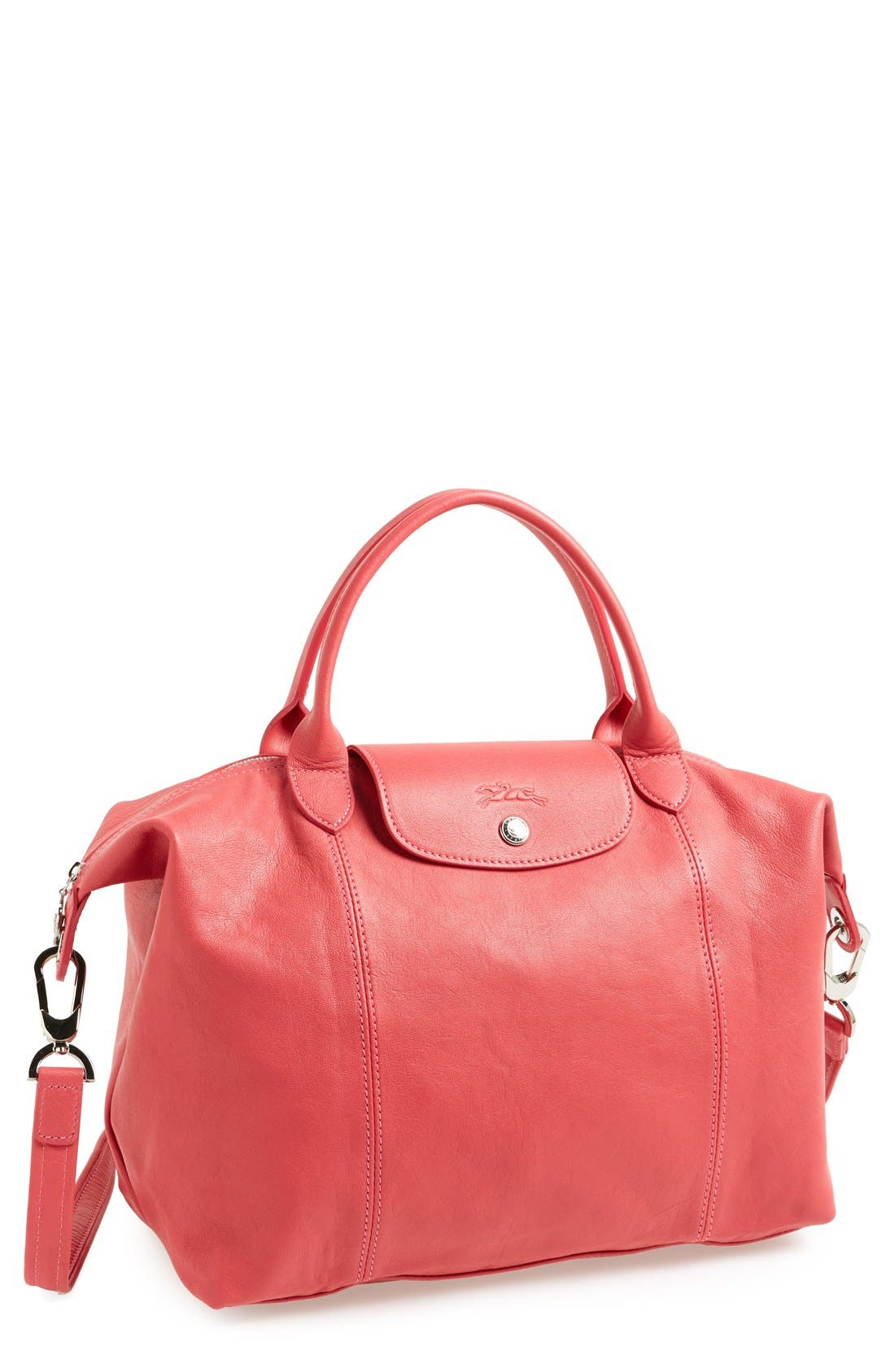 Medium 'Le Pliage Cuir' Leather Top Handle Tote,                             Main thumbnail 28, color,