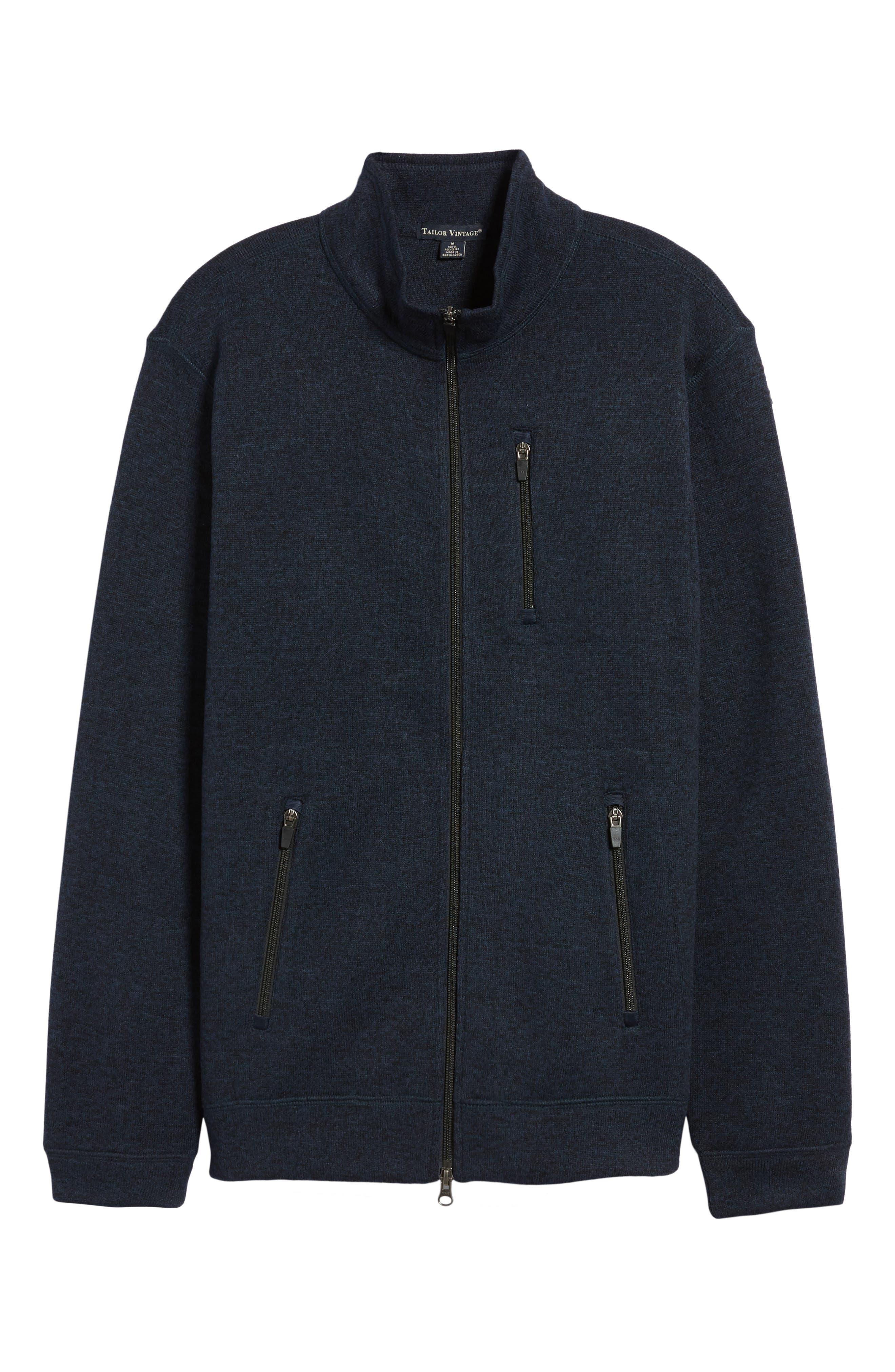 Sweater Knit Fleece Zip Front Jacket,                             Alternate thumbnail 18, color,