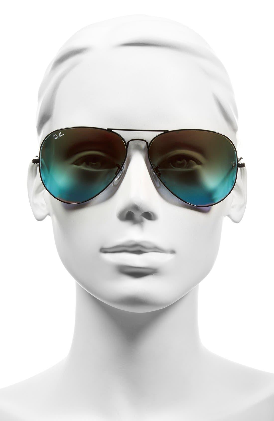 Large Icons 62mm Aviator Sunglasses,                             Alternate thumbnail 2, color,                             011