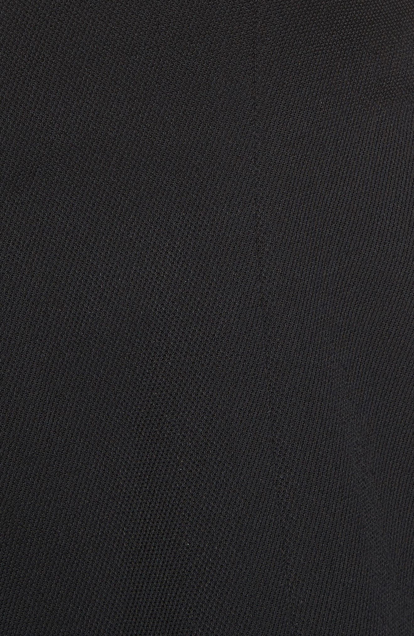 Mixed Media V-Neck Dress,                             Alternate thumbnail 5, color,                             001