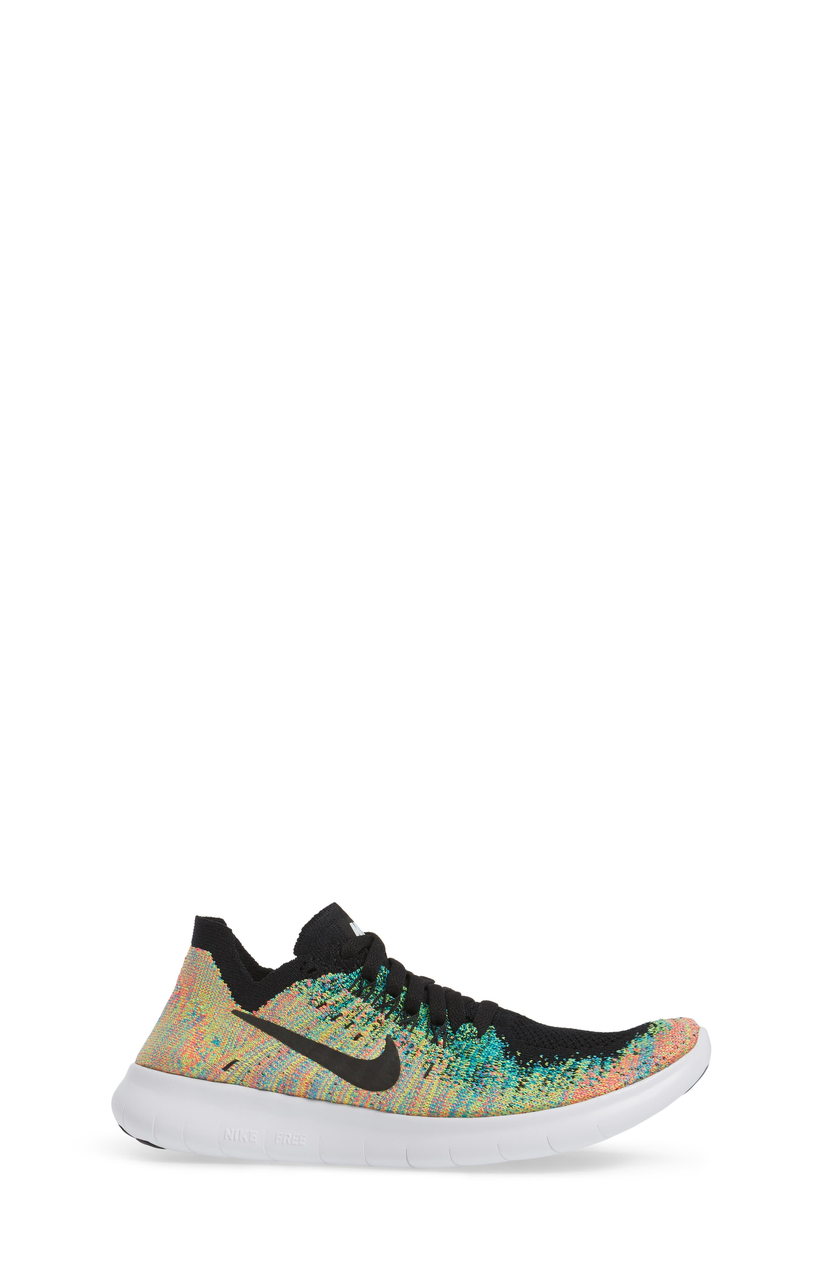 Free RN Flyknit 2017 Running Shoe,                             Alternate thumbnail 3, color,                             001