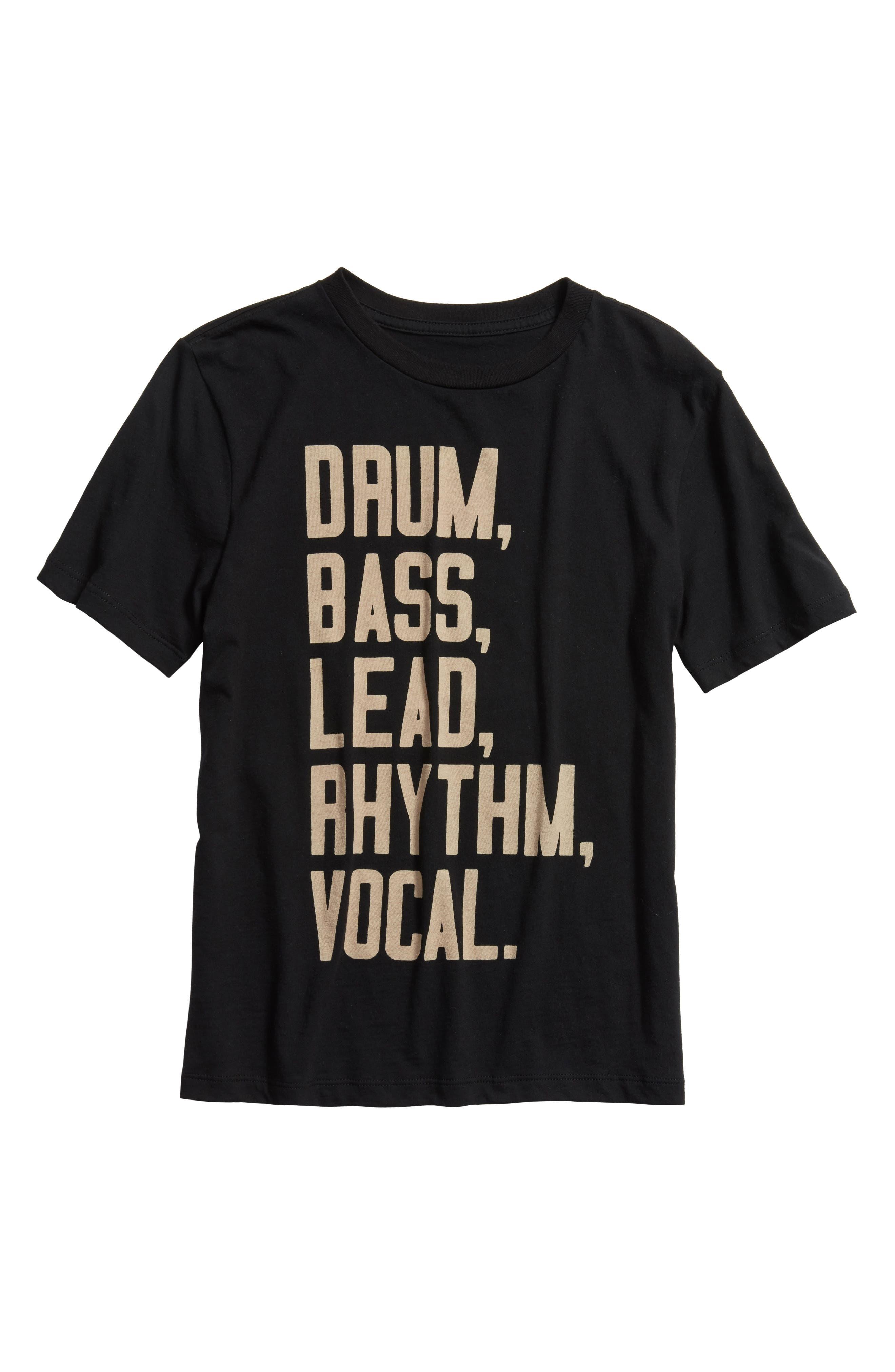 Band T-Shirt,                             Main thumbnail 1, color,                             BLACK