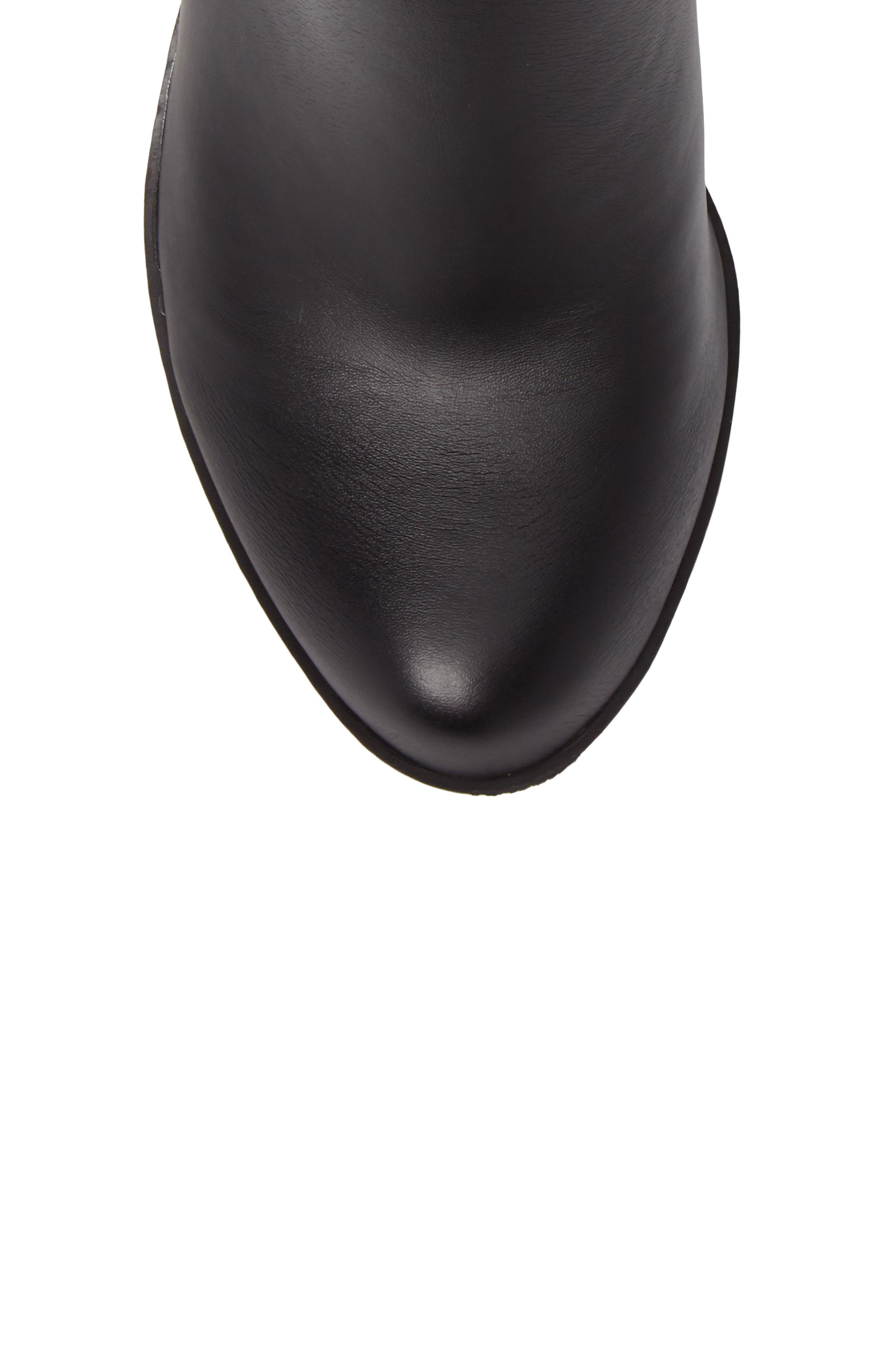 Bartalino Zipper Edged Bootie,                             Alternate thumbnail 5, color,                             BLACK