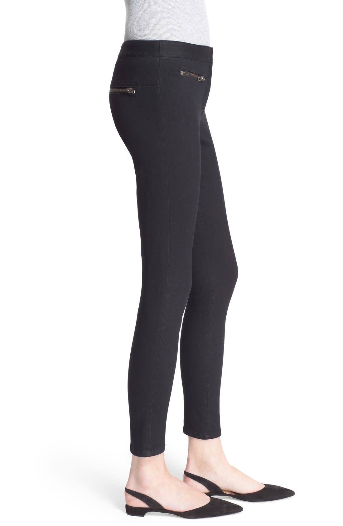 Skinny Crop Trousers,                             Alternate thumbnail 4, color,                             001