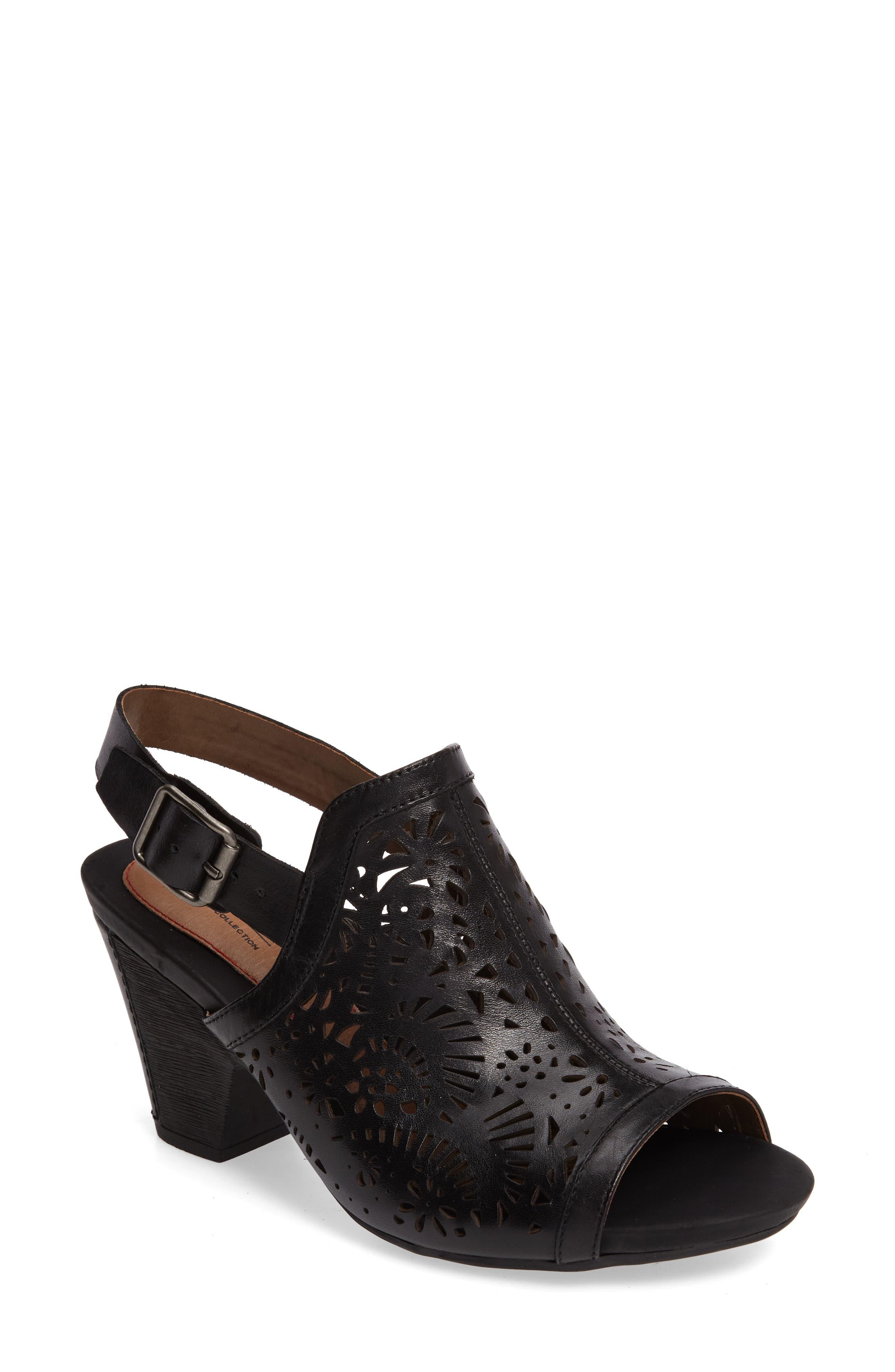 Tropez Block Heel Sandal,                             Main thumbnail 1, color,