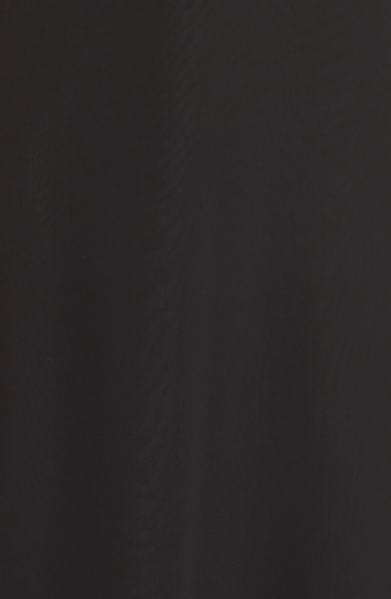 HAYLEY PAIGE OCCASIONS,                             Lace Bodice Chiffon Evening Dress,                             Alternate thumbnail 6, color,                             BLACK / BLACK