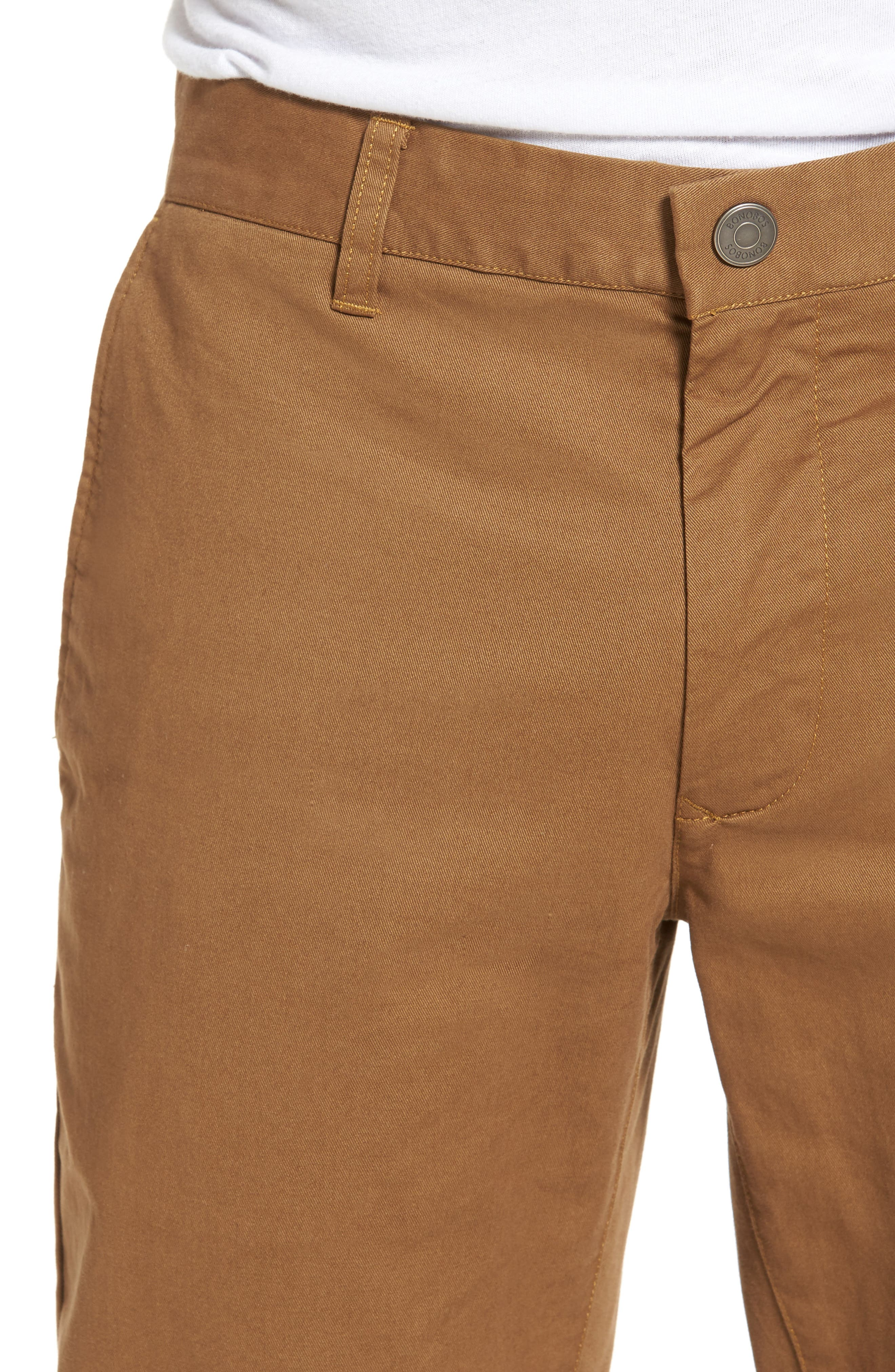 Tailored Fit Washed Stretch Cotton Chinos,                             Alternate thumbnail 110, color,