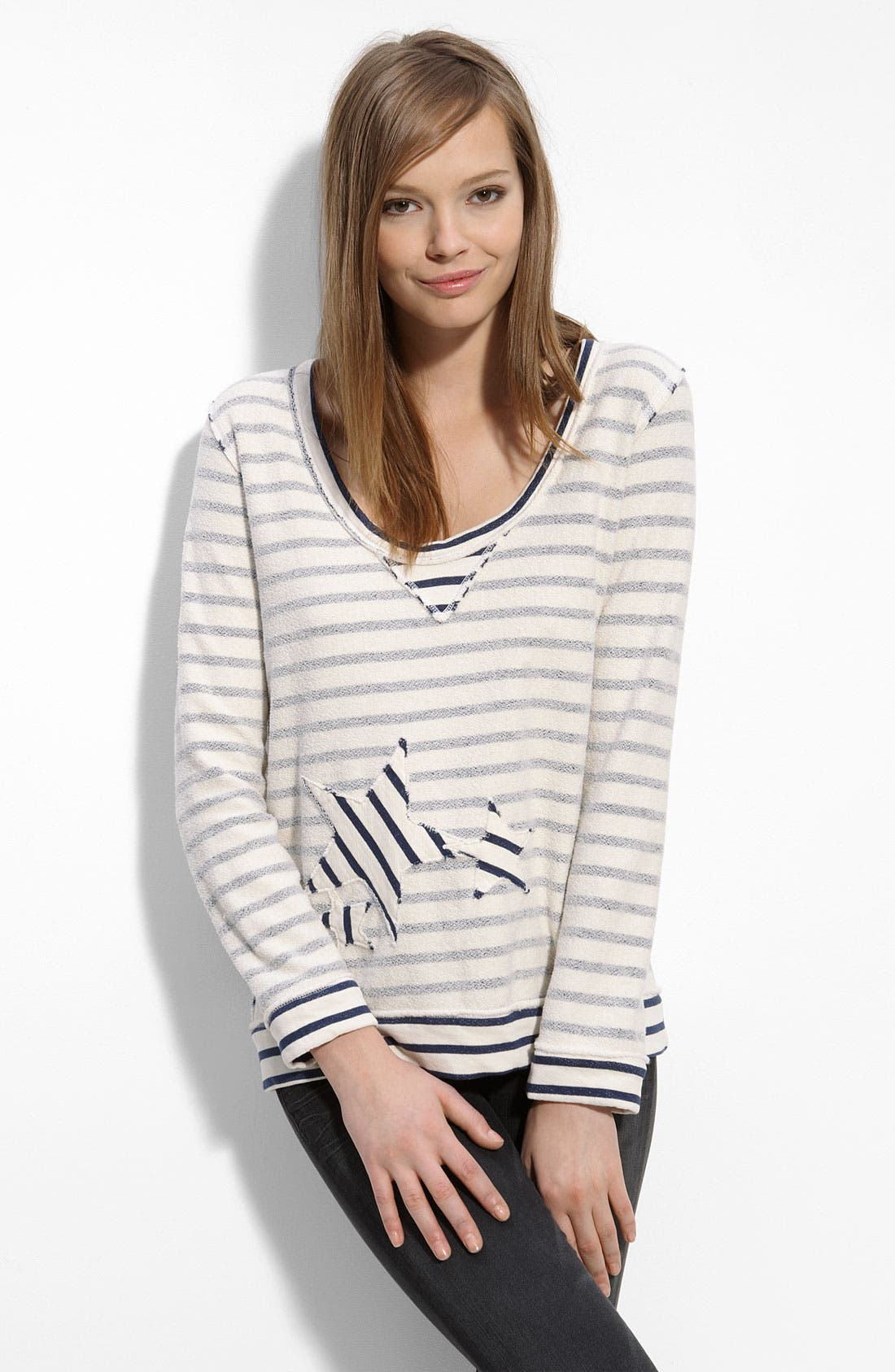'Star' Sweatshirt, Main, color, 105