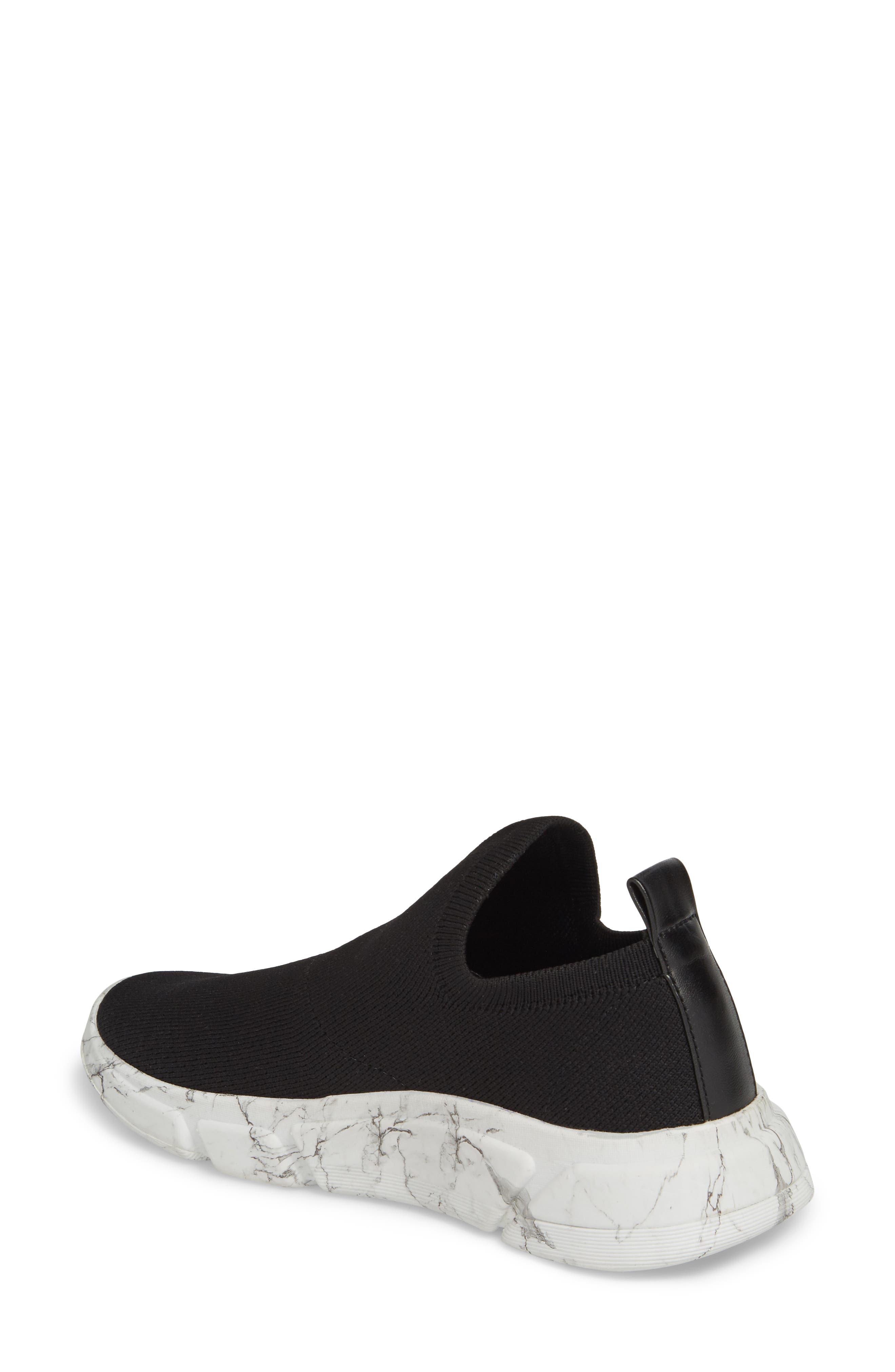 Caleb Knit Sneaker,                             Alternate thumbnail 2, color,                             BLACK