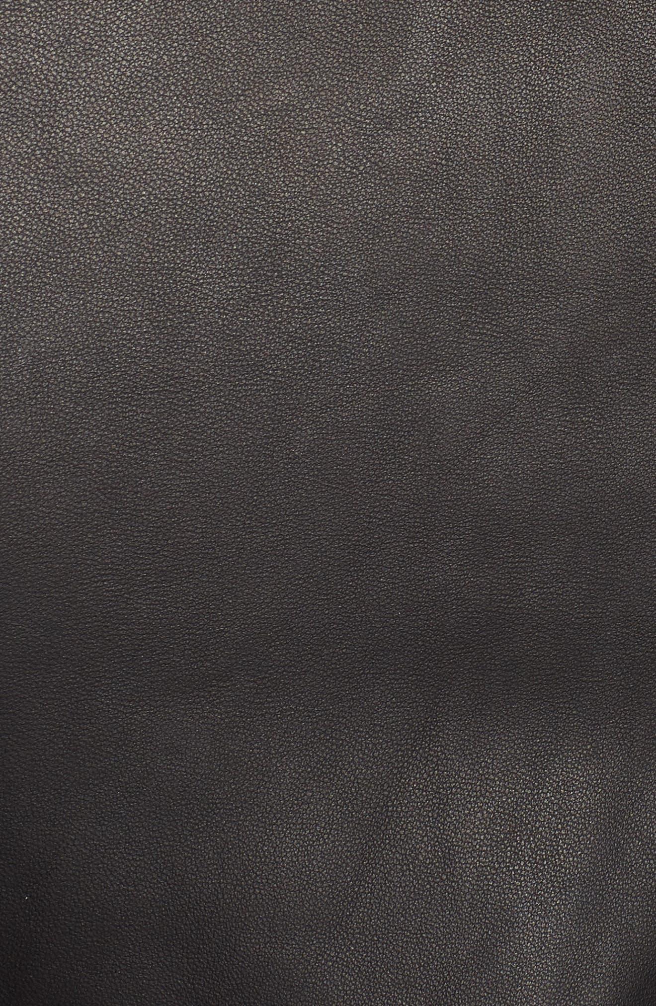 Wes Leather Moto Jacket,                             Alternate thumbnail 7, color,                             001