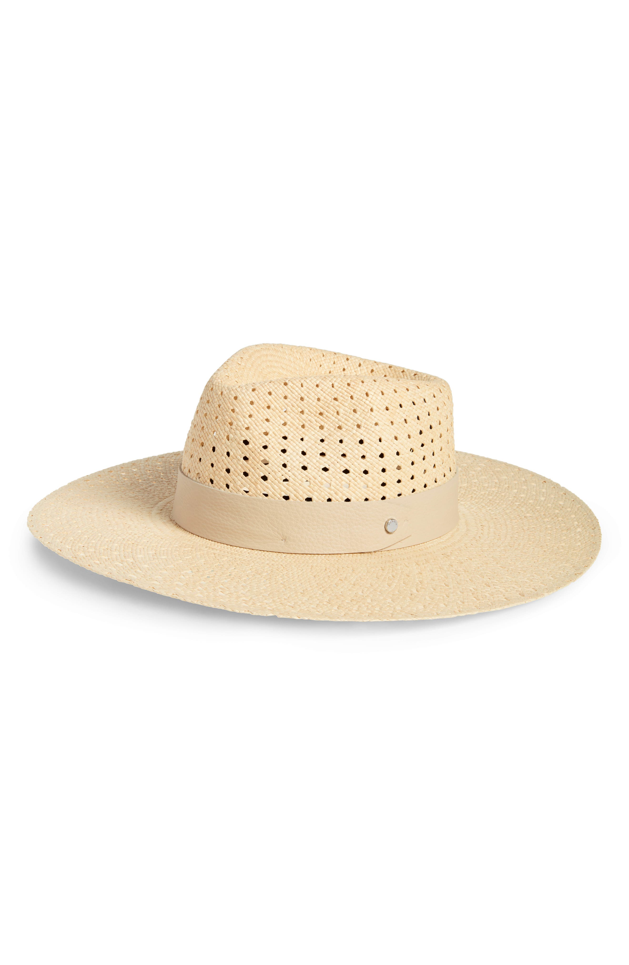 Lacey Wide Brim Panama Hat,                             Main thumbnail 1, color,