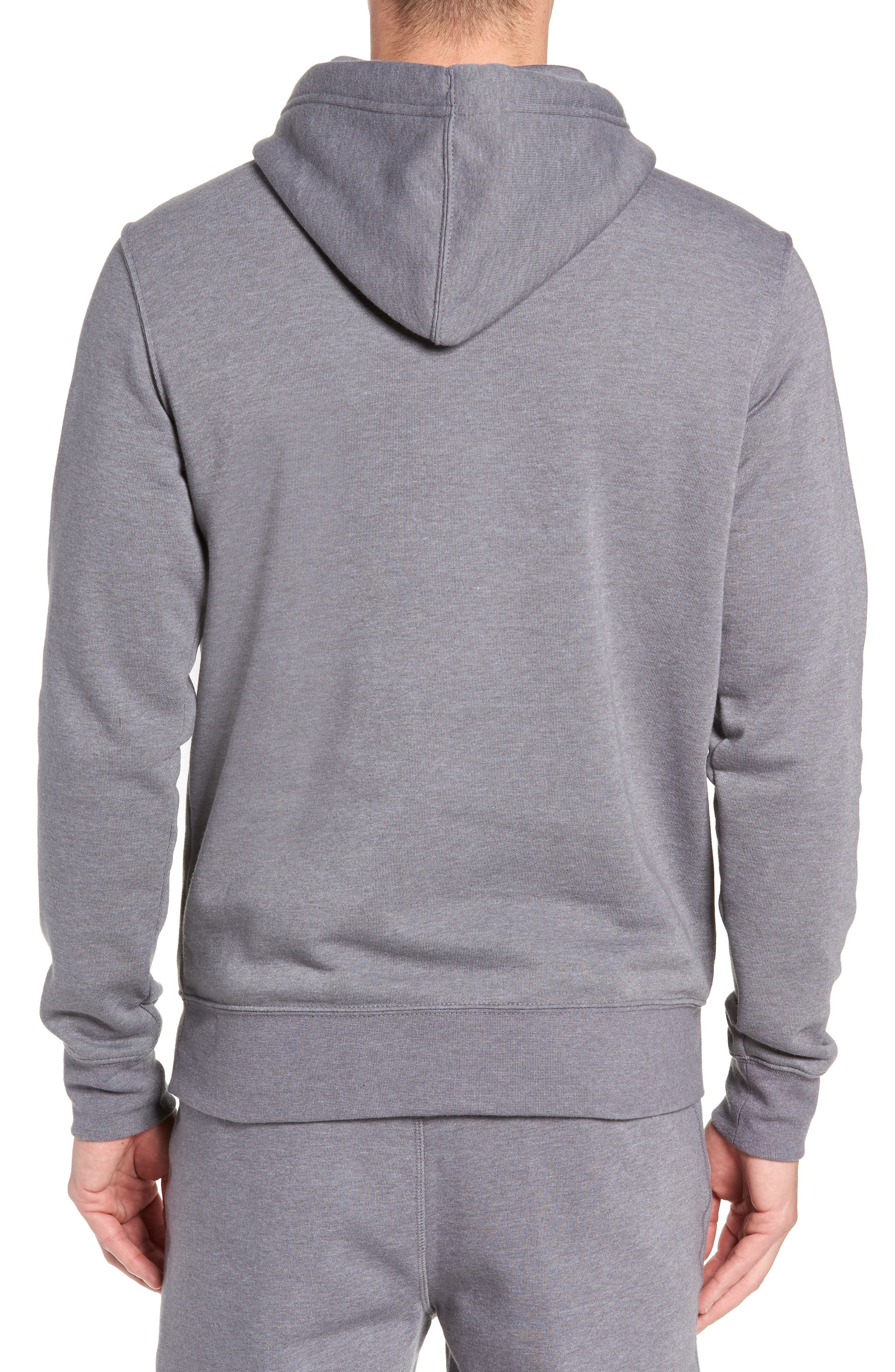 North Face Logo Patch Pullover Hoodie,                             Alternate thumbnail 2, color,                             TNF MEDIUM GREY HEATHER