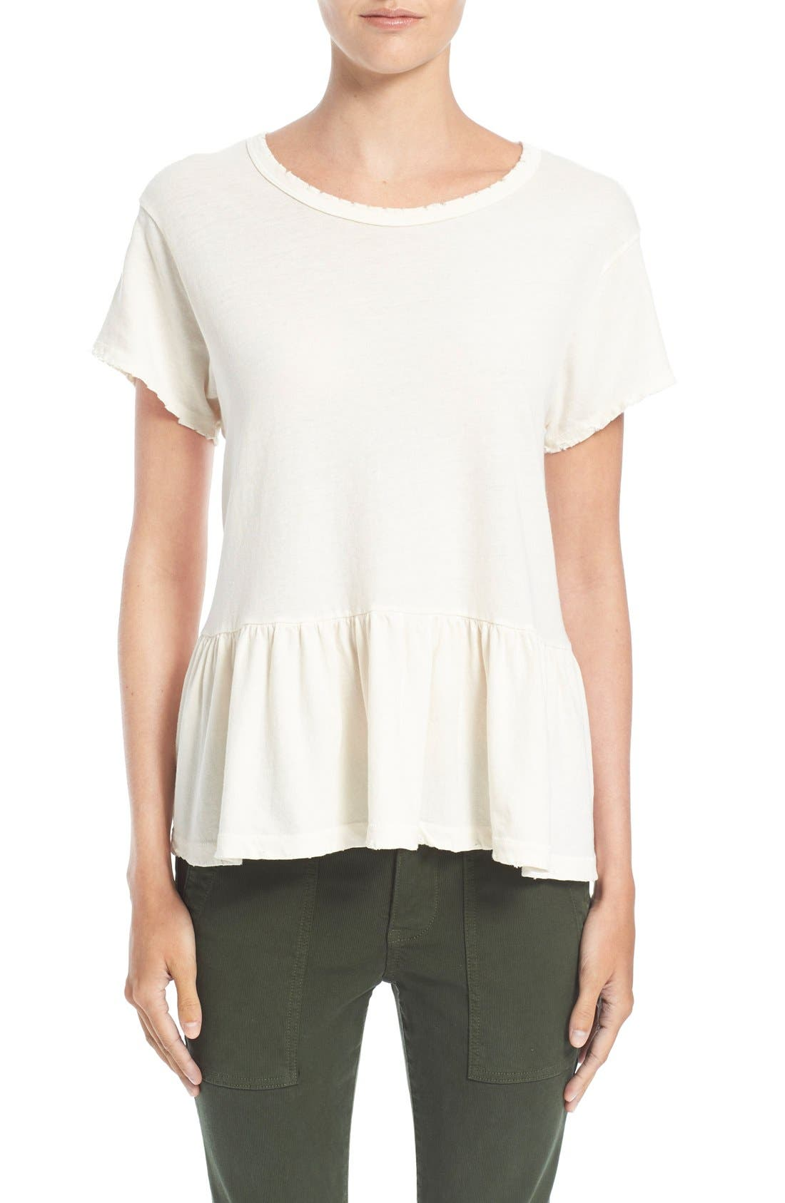 The Ruffle Tee,                             Main thumbnail 6, color,