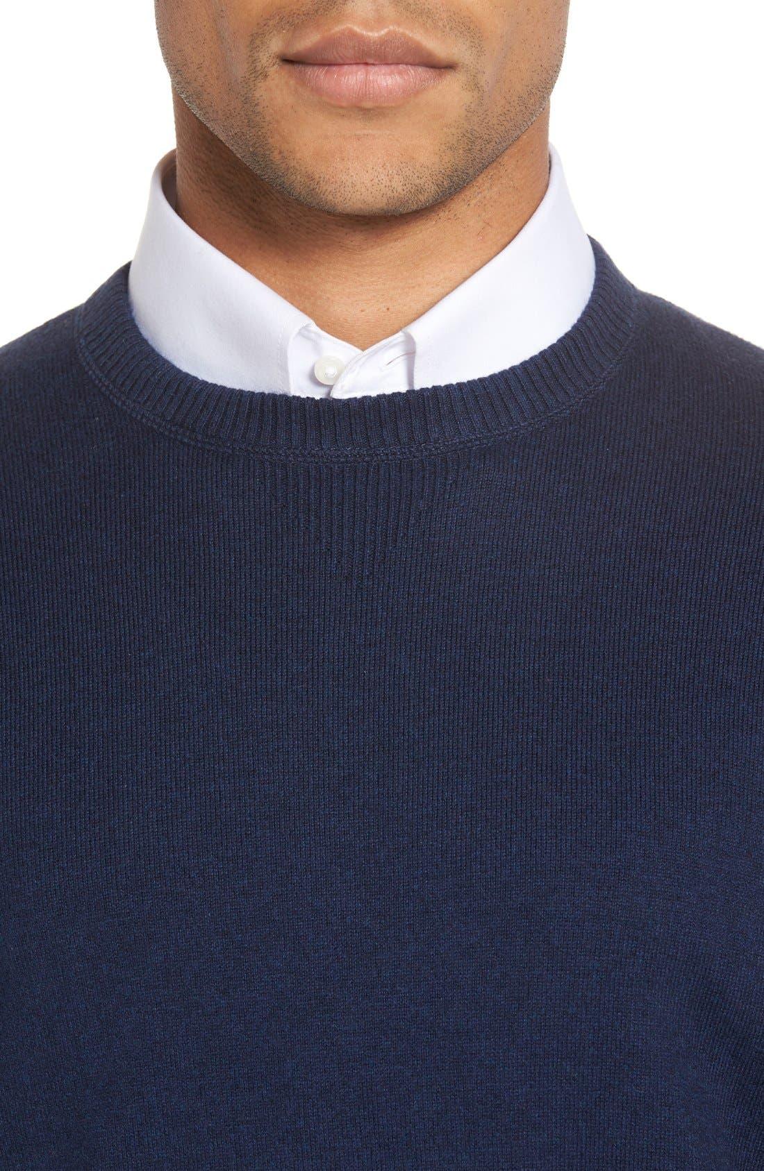 'Jersey Sport' Cotton Blend Crewneck Sweater,                             Alternate thumbnail 29, color,