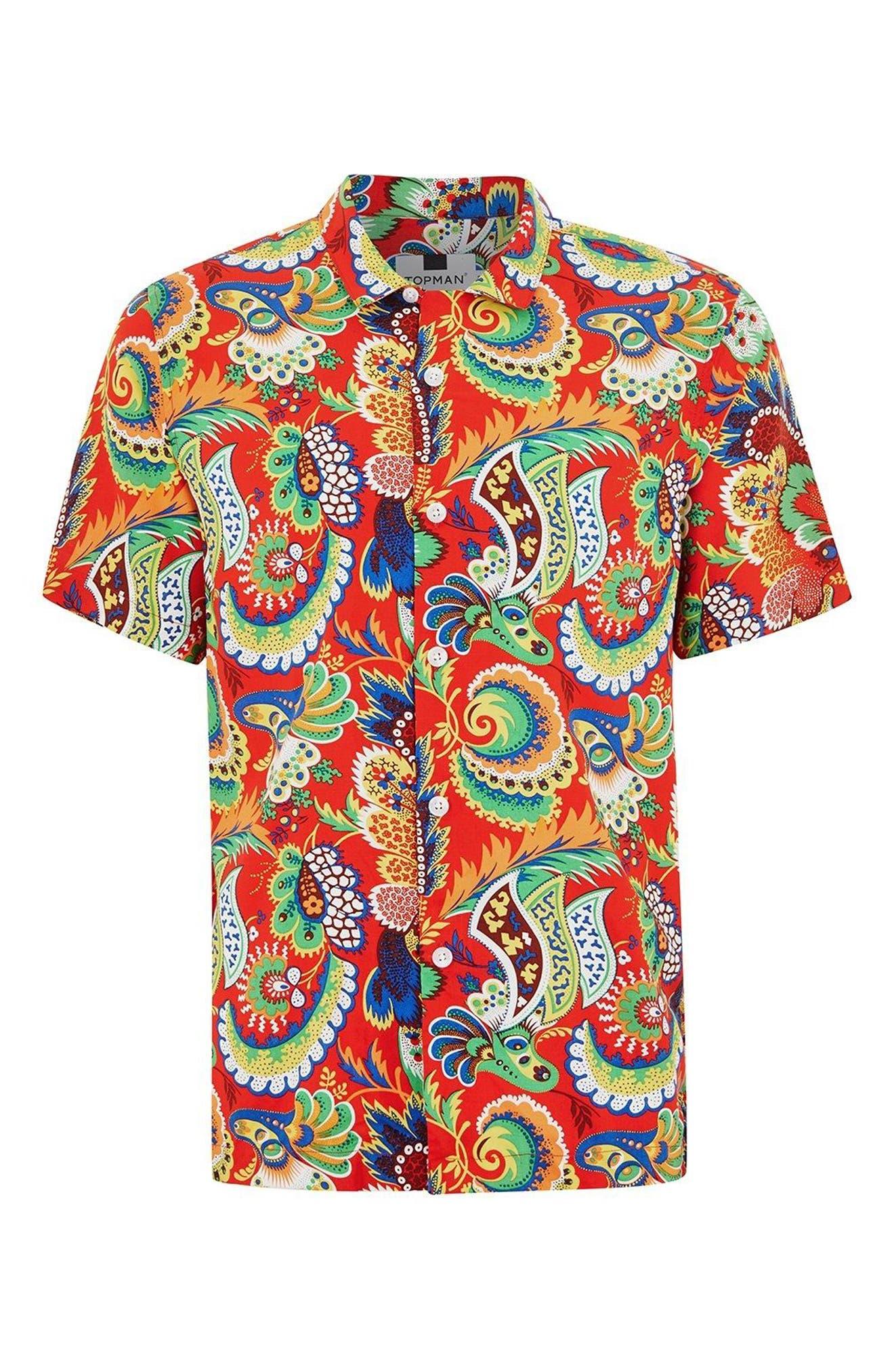 Multi Print Shirt,                             Alternate thumbnail 4, color,                             600