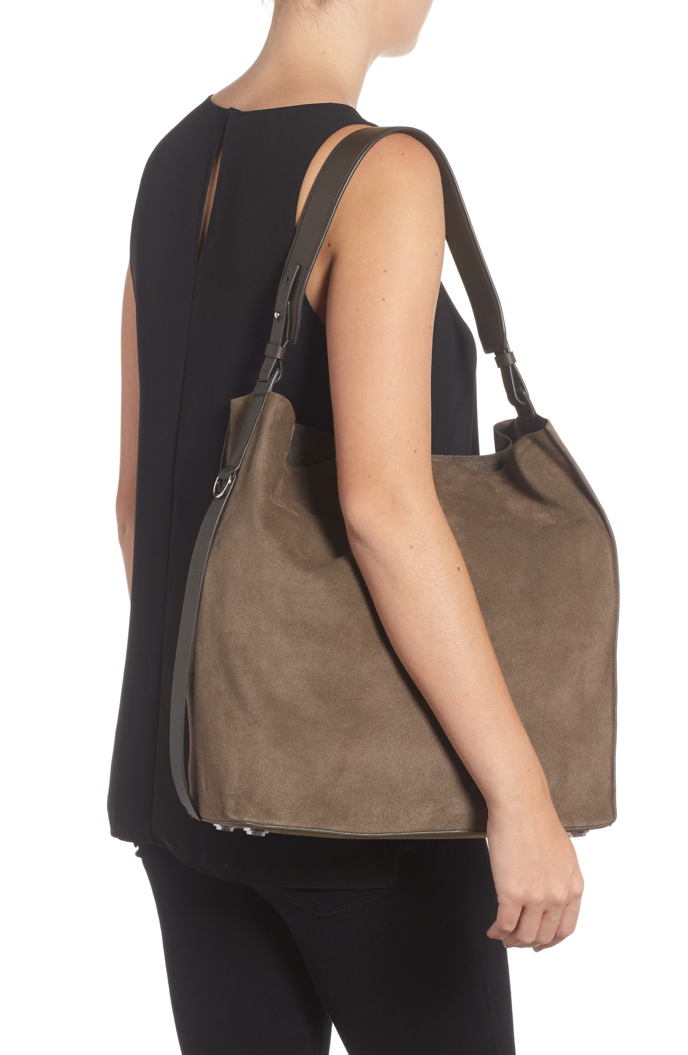 'Paradise - North/South' Suede Tote,                             Alternate thumbnail 2, color,                             024