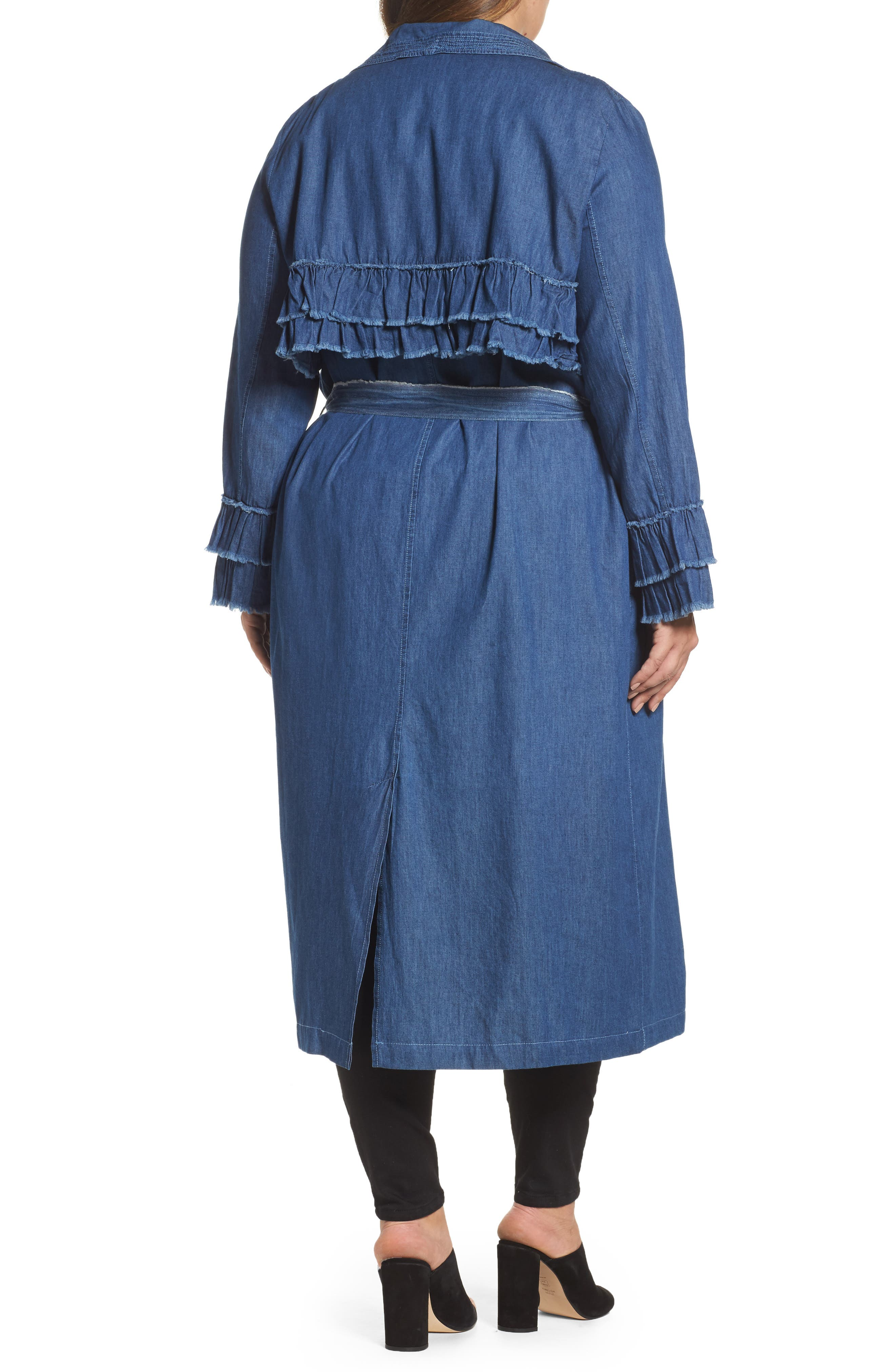 Chambray Trench Coat,                             Alternate thumbnail 2, color,                             400